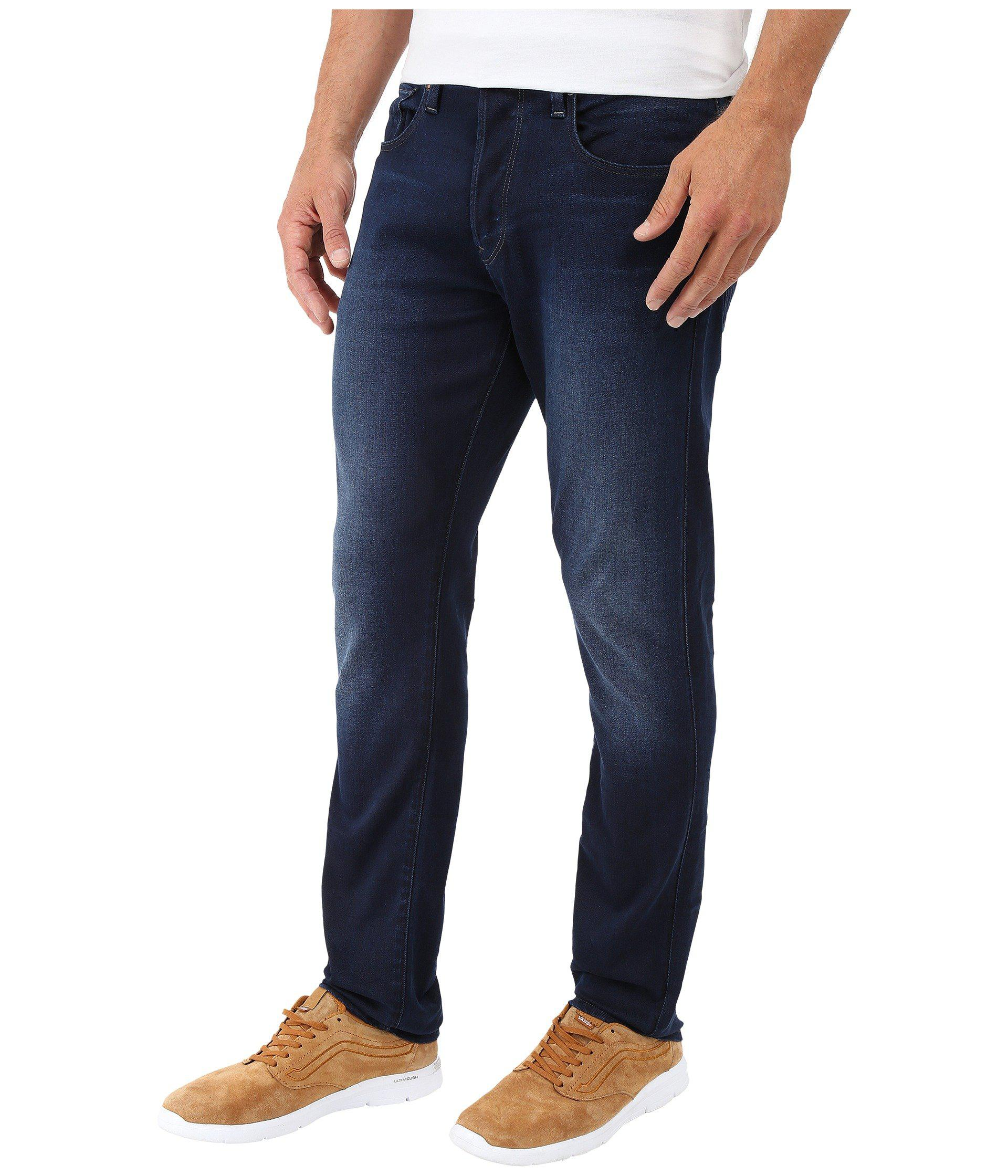 c0acc224575 G-Star RAW 3301 Tapered Fit Jeans In Slander Indigo Superstretch ...