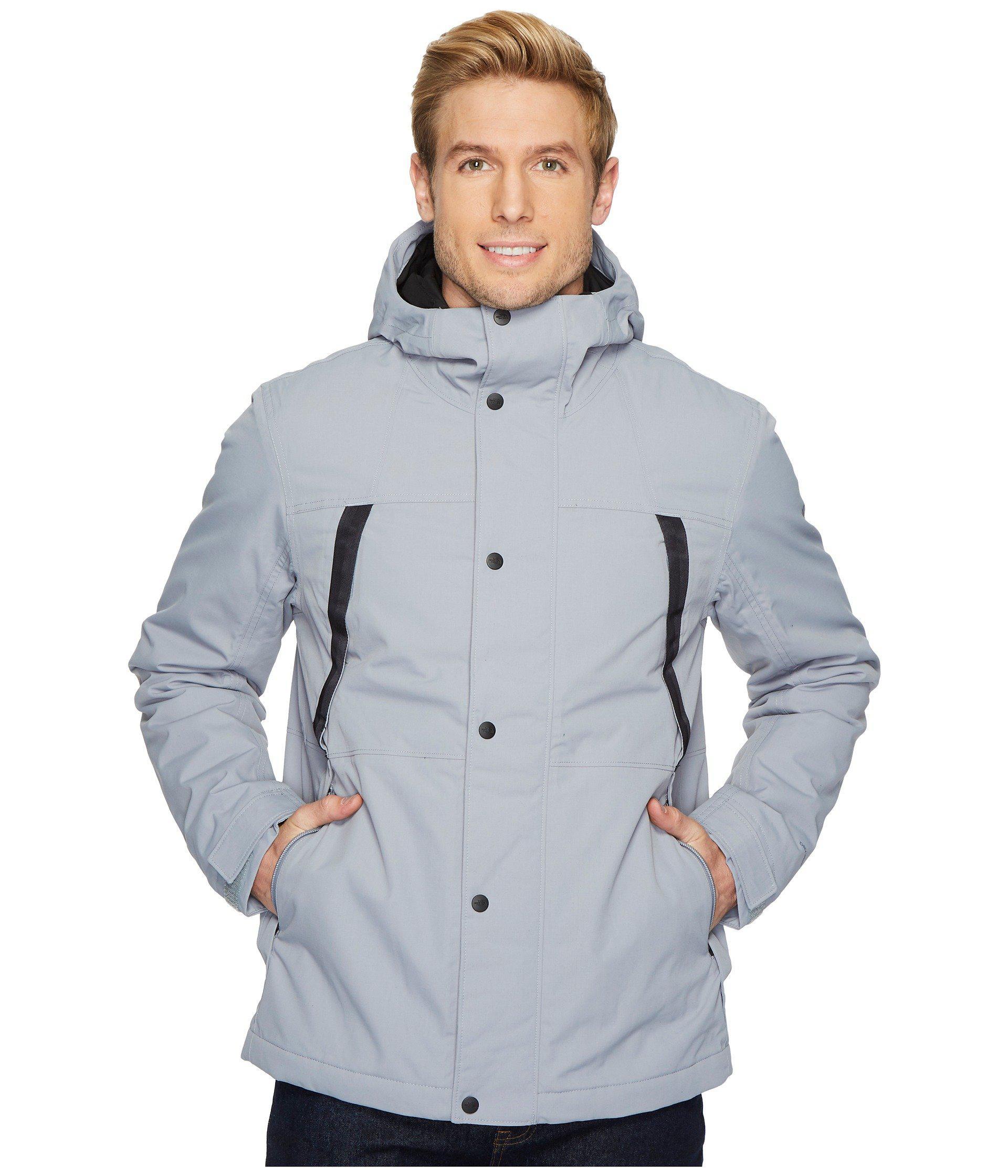 1a65f4d340da ... promo code for the north face. mens gray stetler insulated rain jacket  c973d 7ab9a