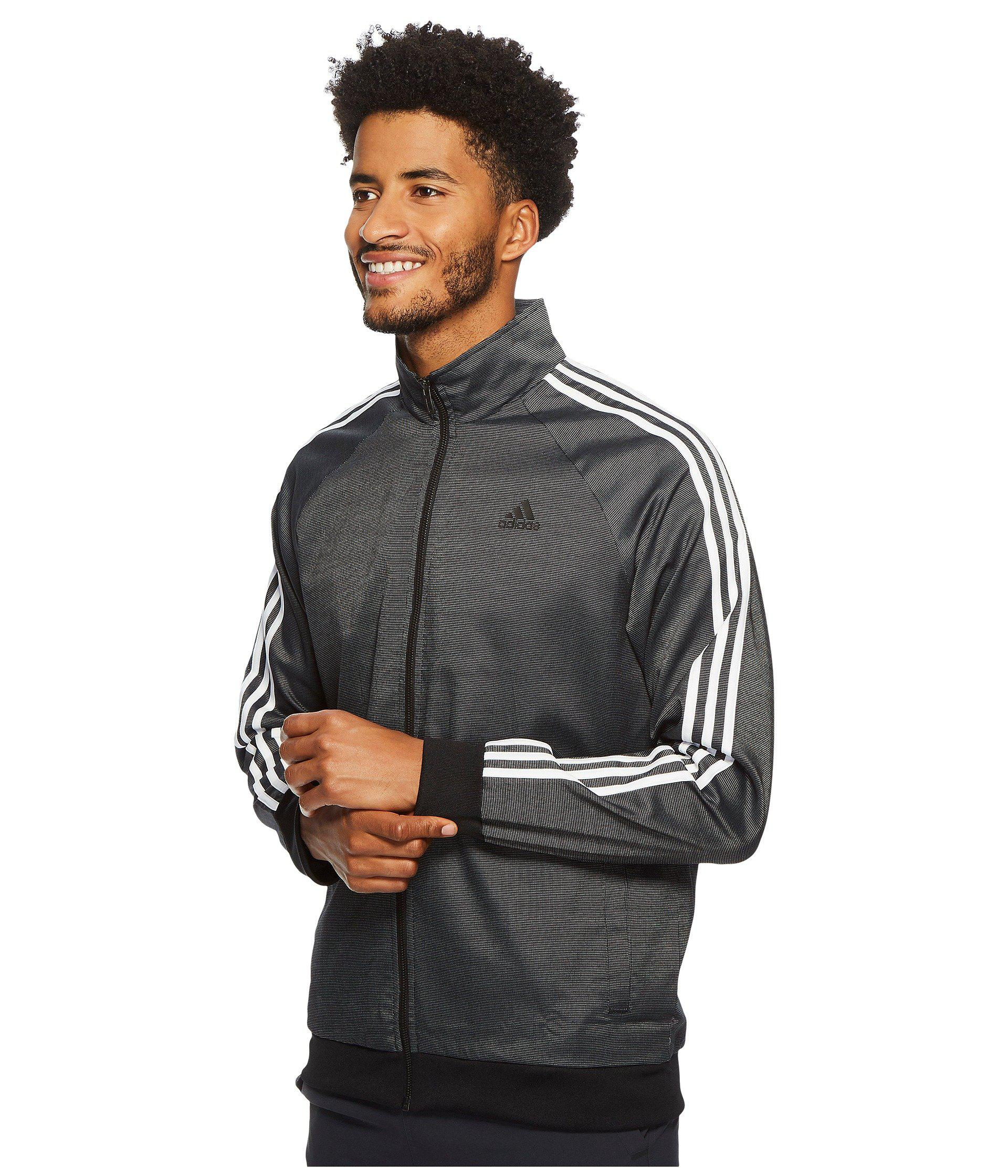 6fa39c8ff018 Lyst - adidas Essentials 3-stripe Woven Track Top in Black for Men