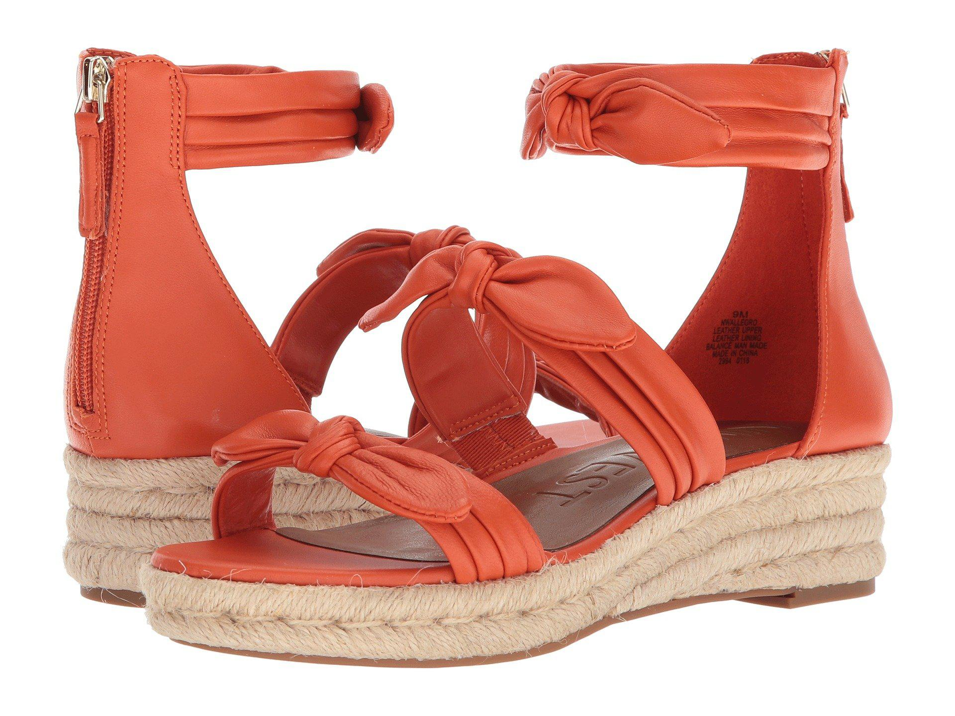 500f9a1123 Nine West Allegro Leather Wedge Sandal - Lyst