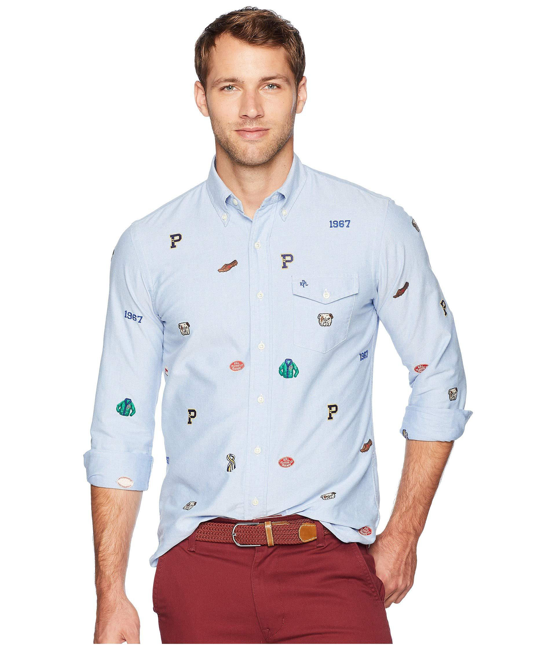 b267193071b ... coupon code for polo ralph lauren. mens blue classic fit embroidered  oxford shirt 9e9be 582aa