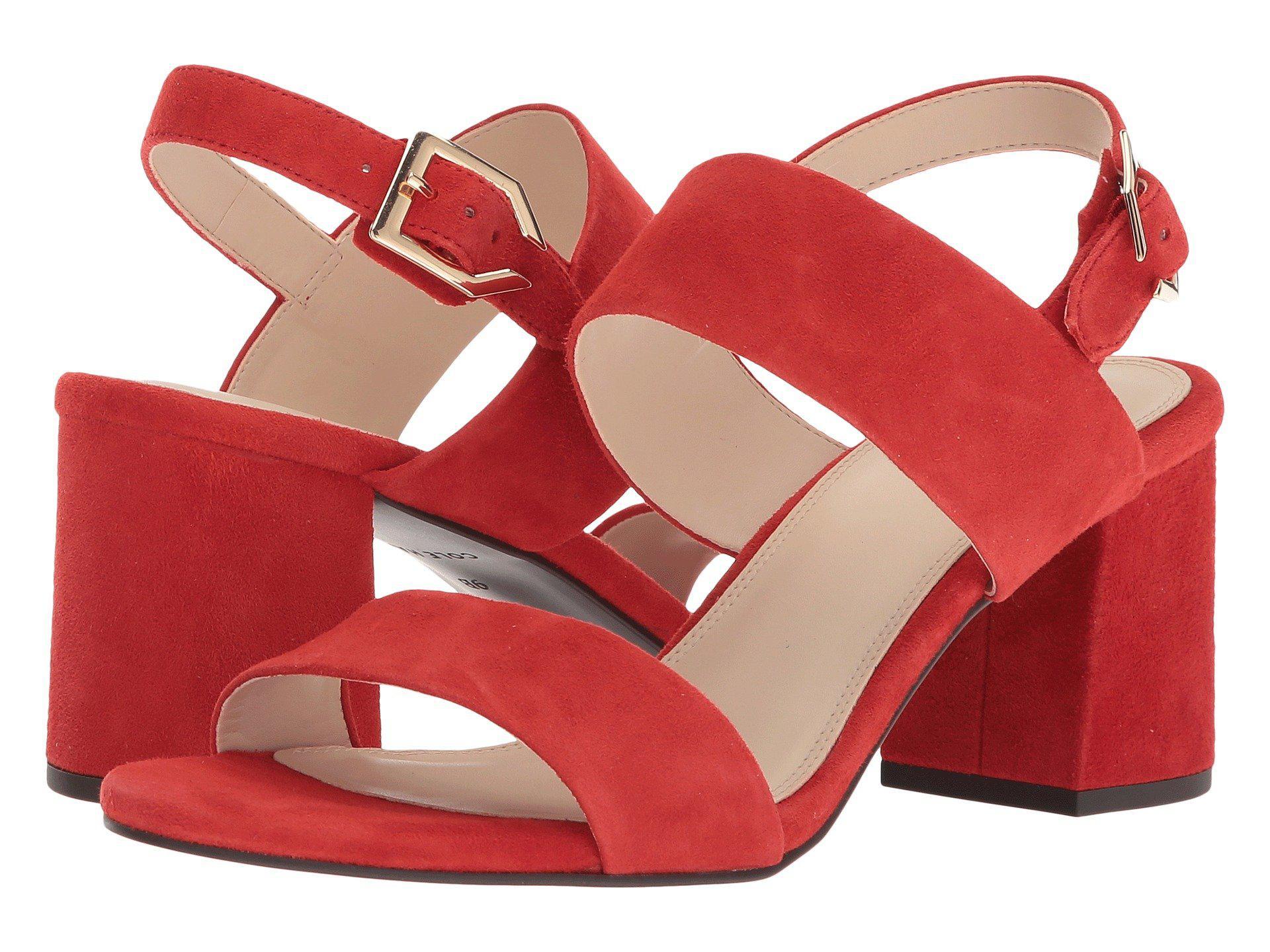 bb5c3b887fb Lyst - Cole Haan Avani City Sandal in Red