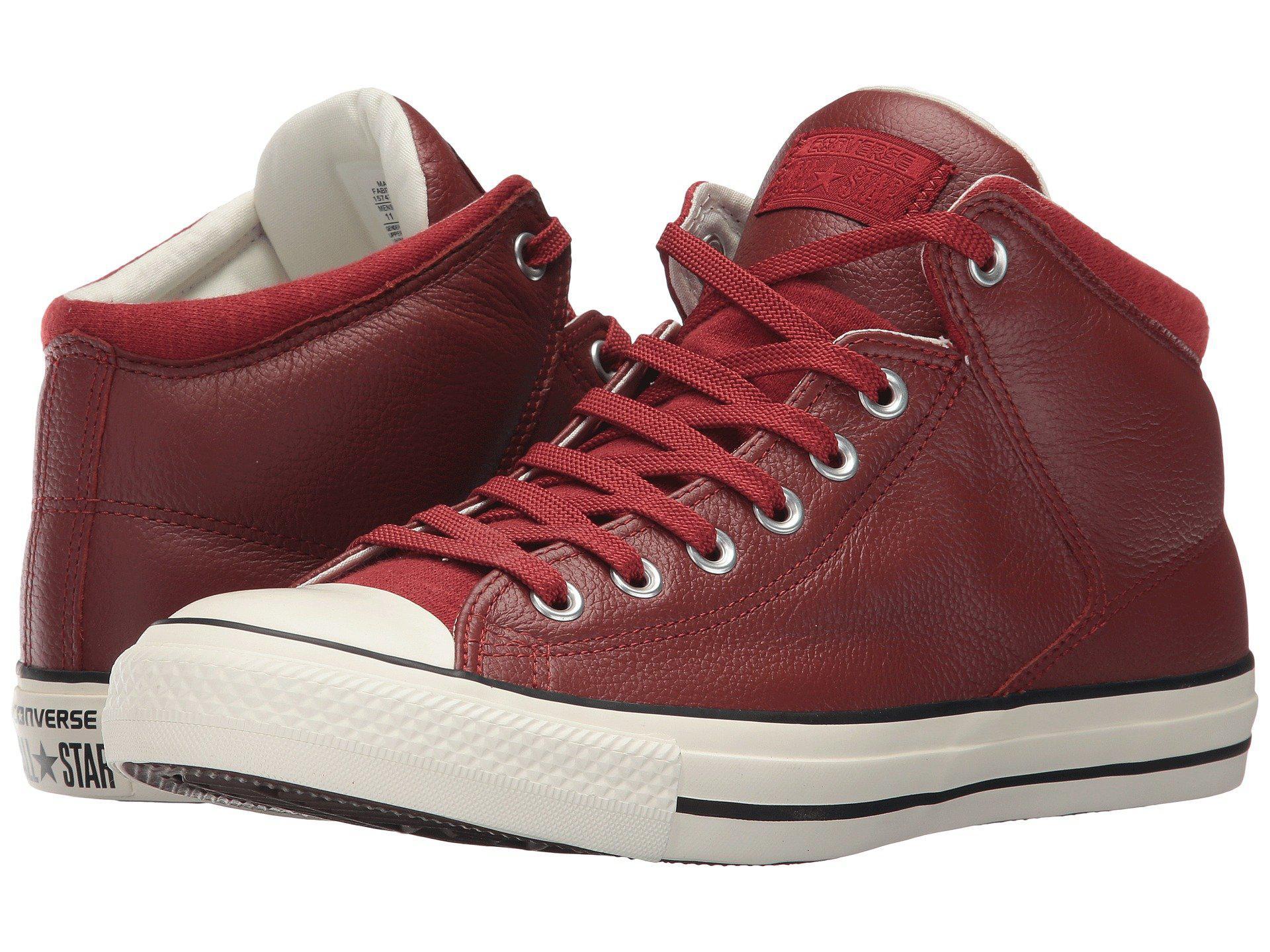 Lyst - Converse Chuck Taylor All Star Street Hi - Tumbled Leather in ... b92cc9cab