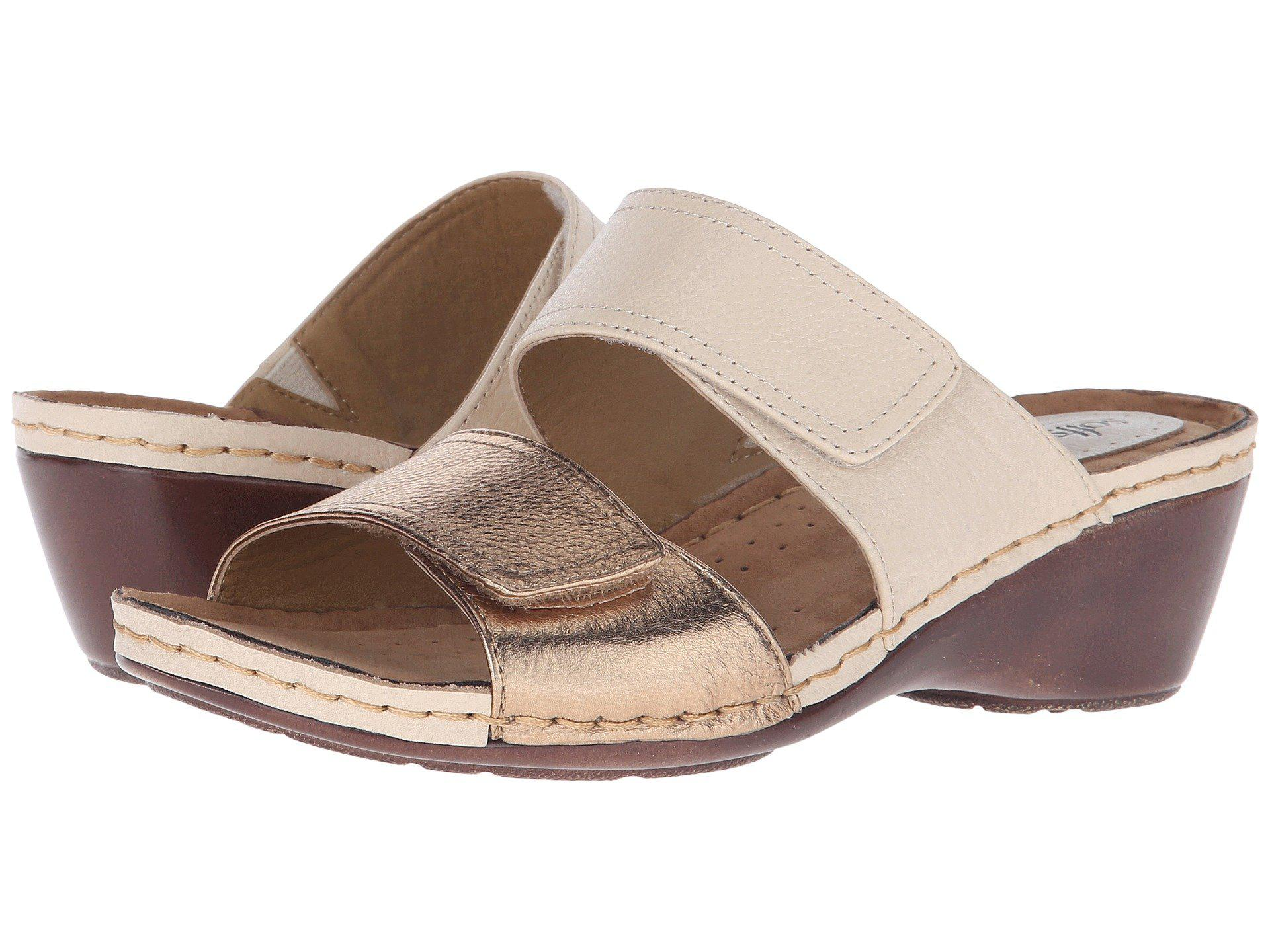Affordable Sale Online Comfortiva Anabelle Slide(Women's) -Natural Foil Cow Leather Free Shipping Cheap XVCULs