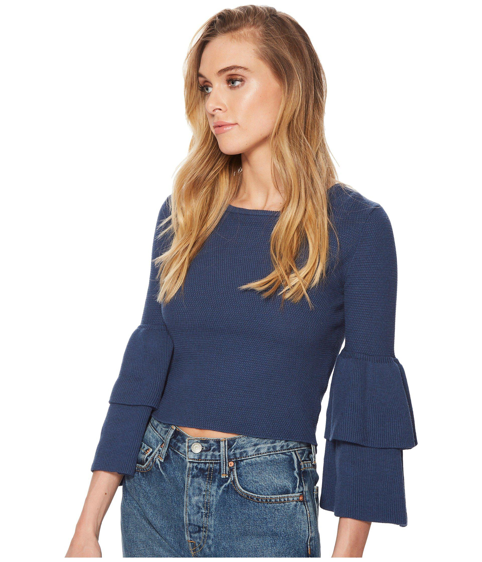 Lyst - Jack BB Dakota Alanis Double Ruffle Sleeved Sweater in Blue - Save  46% 29be671be