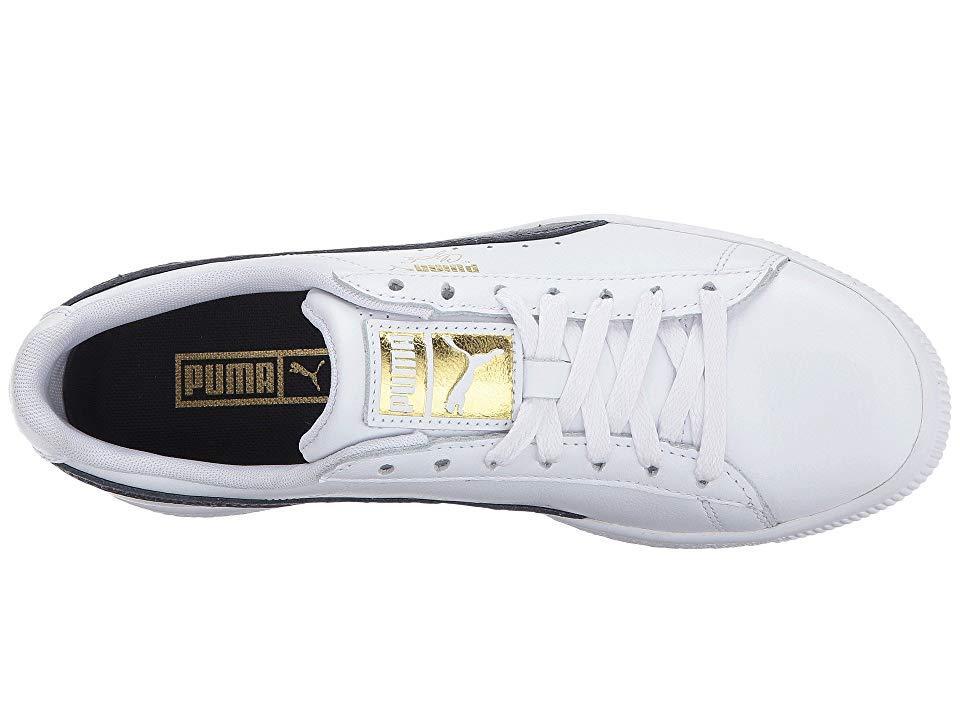 best cheap 8a112 65557 PUMA Clyde Core L Foil ( White/ New Navy/ Team Gold) Shoes ...