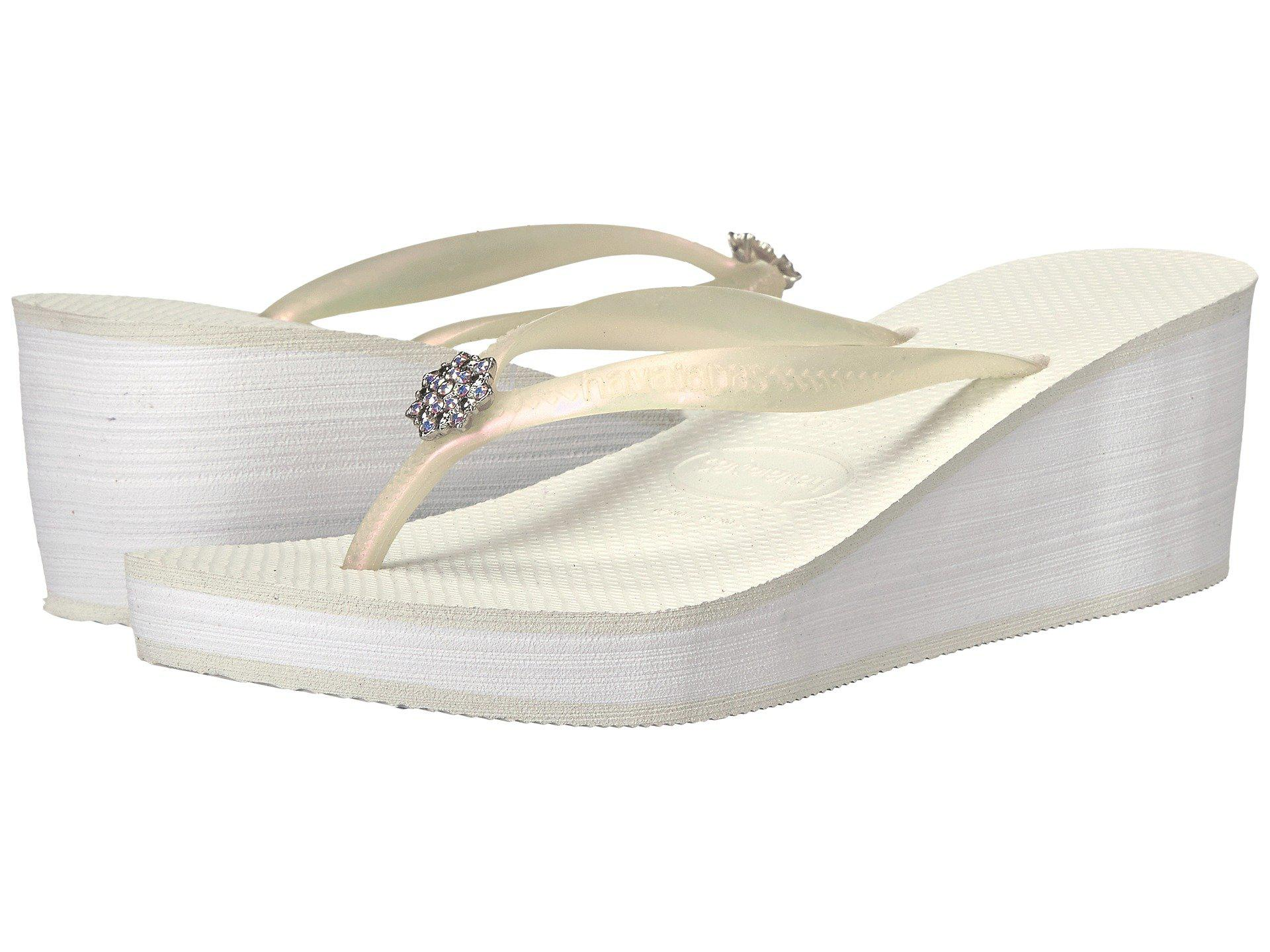 ad37ec94a87d1d Lyst - Havaianas High Fashion Poem Flip-flops in White