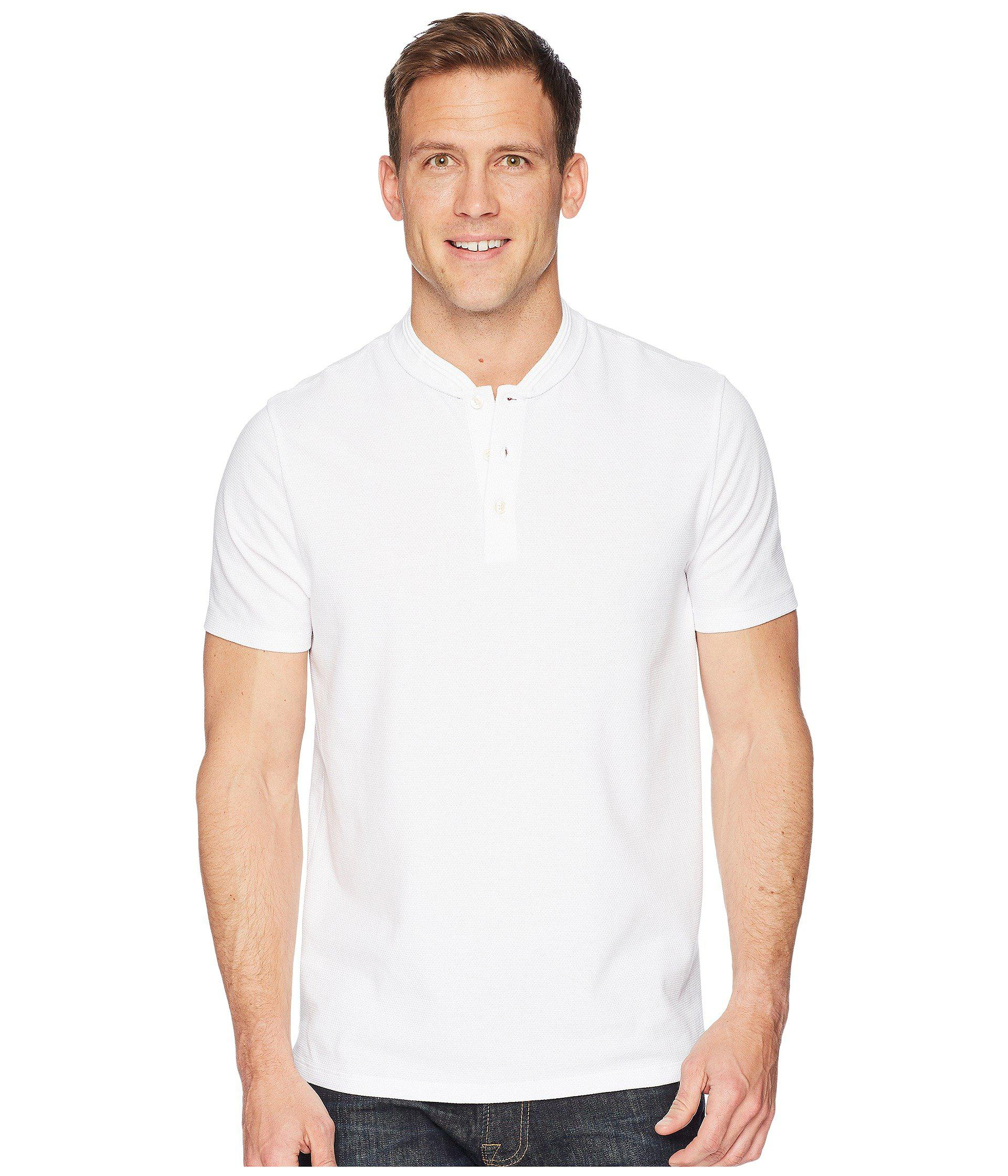 f0ac5fd89c Lyst - Perry Ellis Stretch Solid Jacquard Henley in White for Men ...