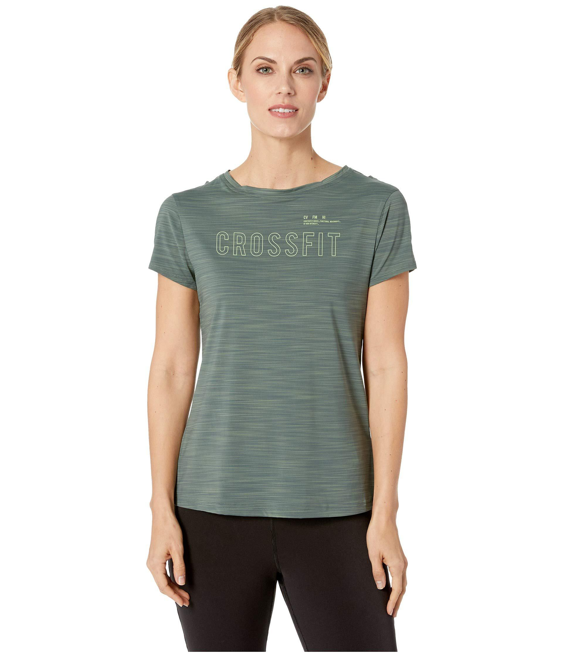 2b05a5bbd032 Lyst - Reebok Crossfit Activchill Tee in Green - Save 15%