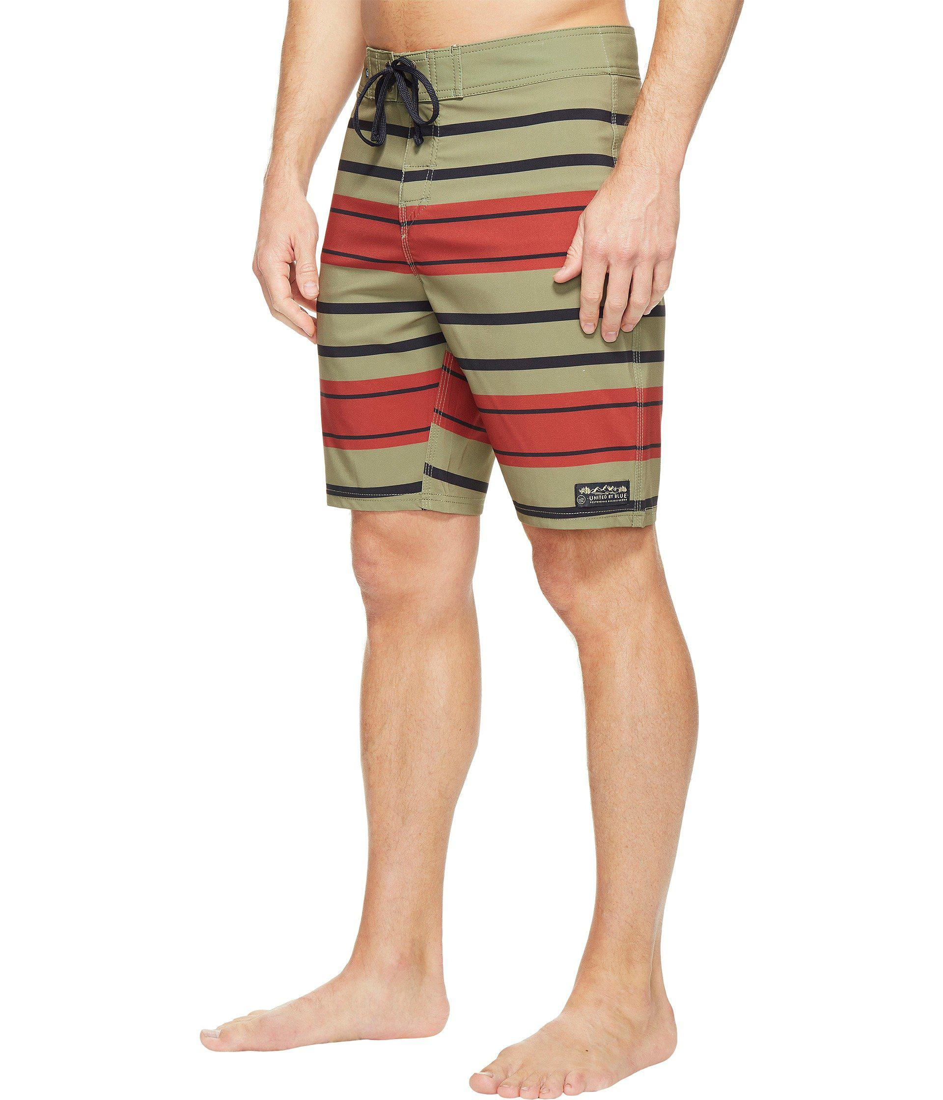 04c7803346 Lyst - United By Blue Streamline Boardshorts in Green for Men - Save 39%