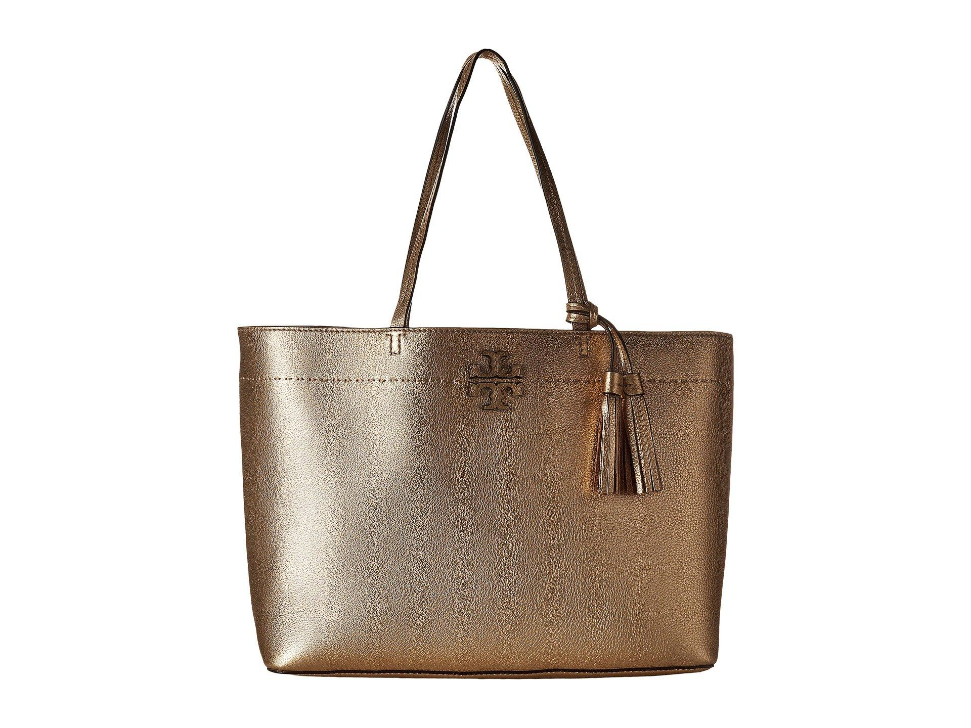 aaae4698428 Lyst - Tory Burch Mcgraw Metallic Tote in Metallic - Save 21%