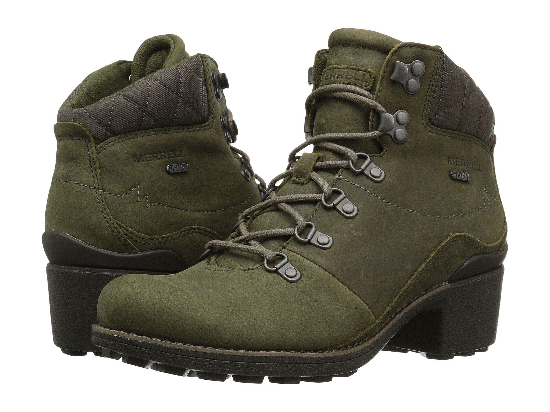 7b420556c51 Lyst - Merrell Chateau Mid Lace Waterproof in Green - Save 27%