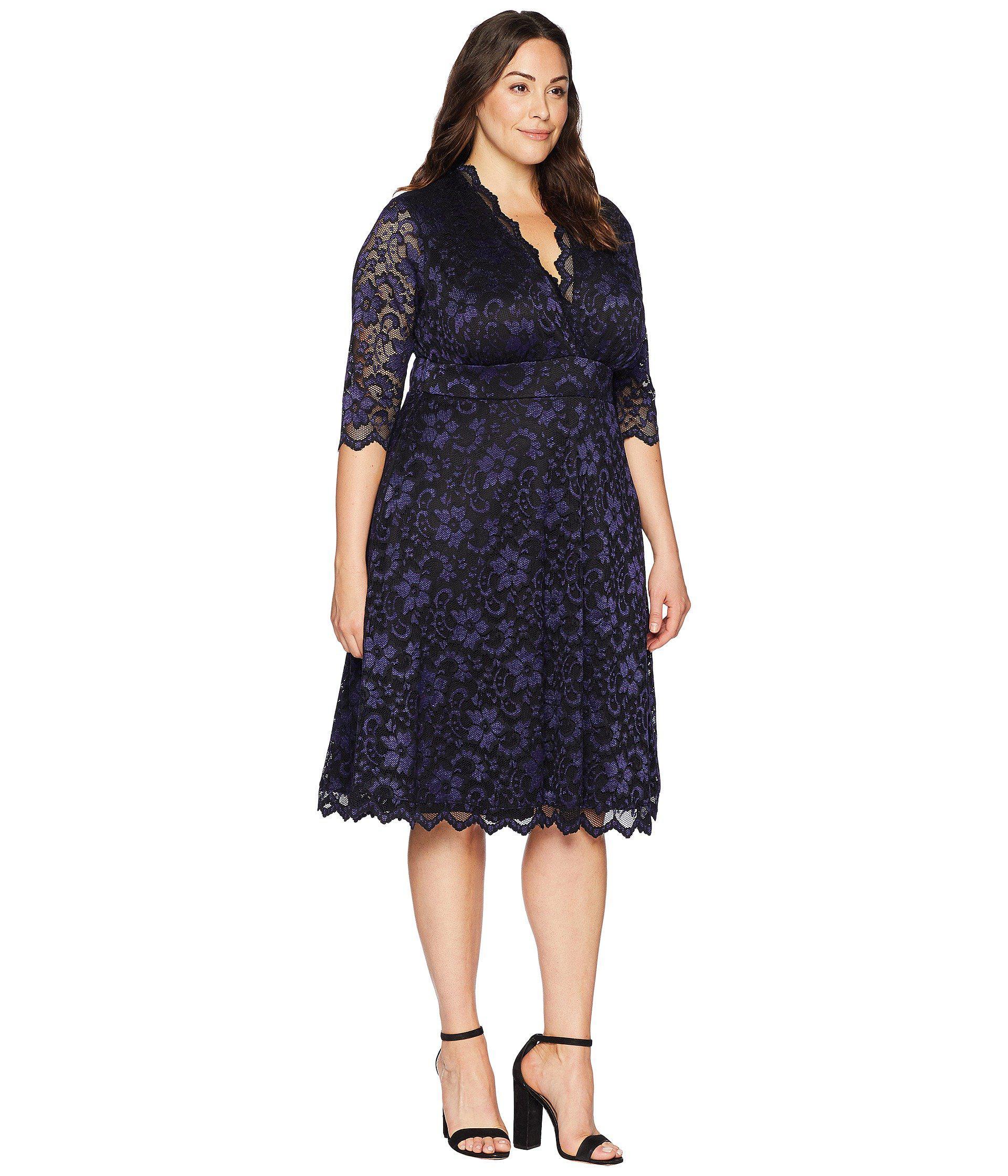 ed29dccad6d Kiyonna - Blue Mon Cherie Lace Dress - Lyst. View fullscreen
