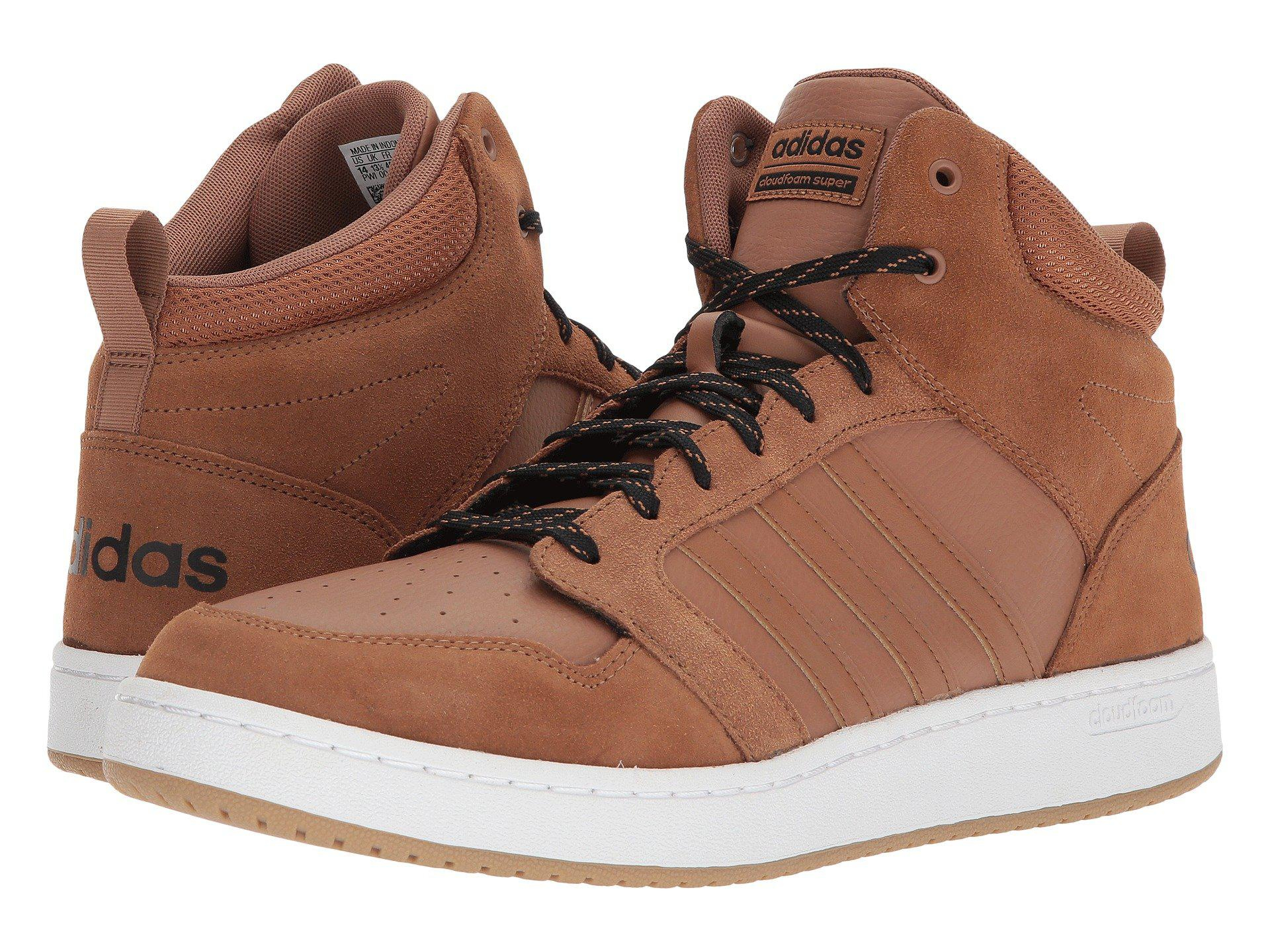 Lyst - adidas Cloudfoam Super Hoops Mid Basketball Shoe in Brown for Men c7e25a286