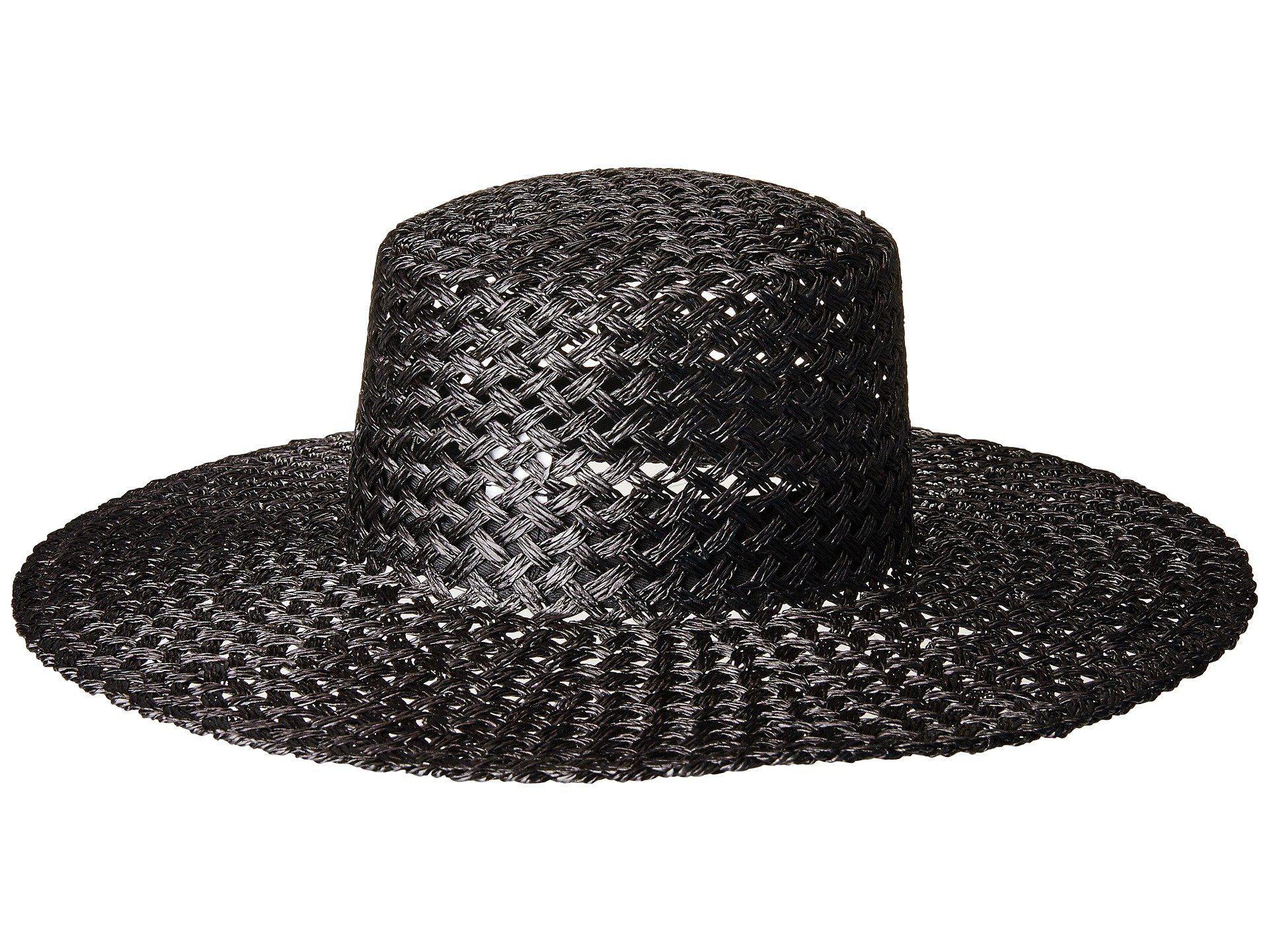 08021f377 Lack of Color Sunnydip Noir Straw Boater in Black - Lyst