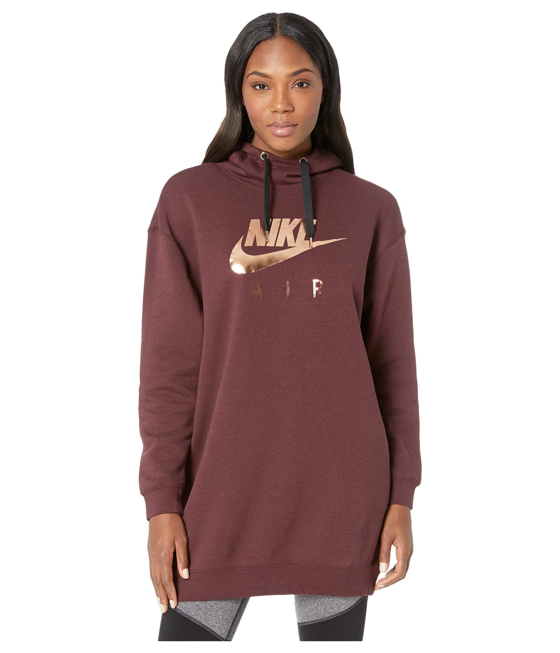bb077d2a550c6 Lyst - Nike Sportswear Air Hoodie Oversize in Red - Save 25%