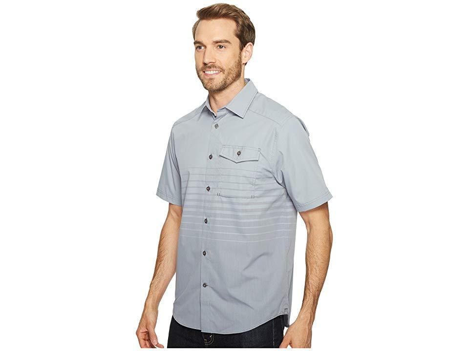 355592ca Under Armour. Men's Gray Ua Backwater Short Sleeve Shirt (steel/white) Short  Sleeve Button Up