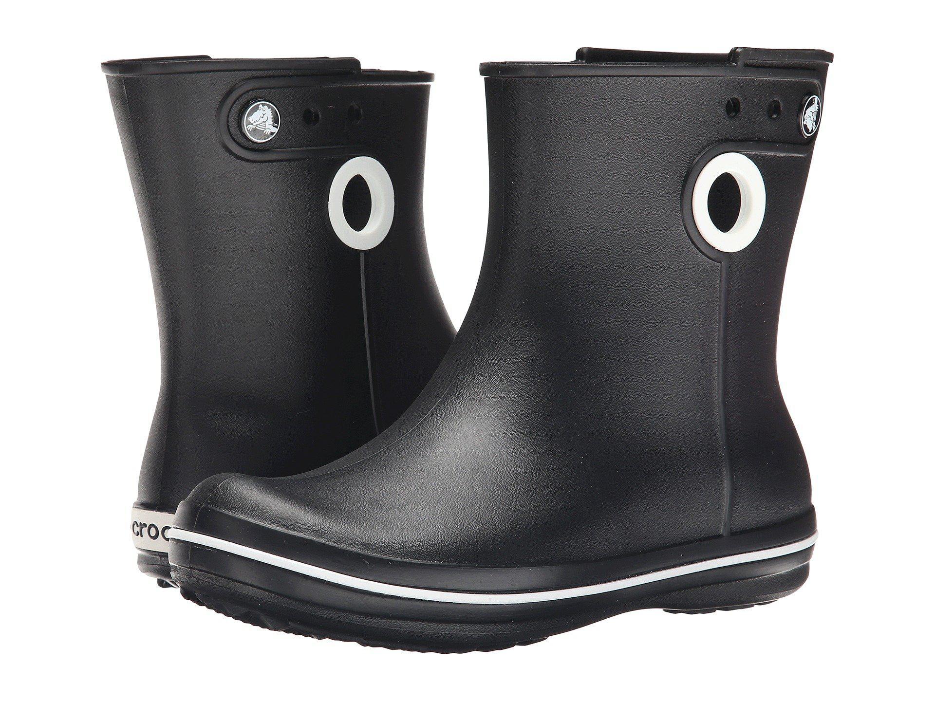 a55a91fa2db72a Lyst - Crocs™ Jaunt Shorty Warm Lining Rain Boots in Black - Save 26%