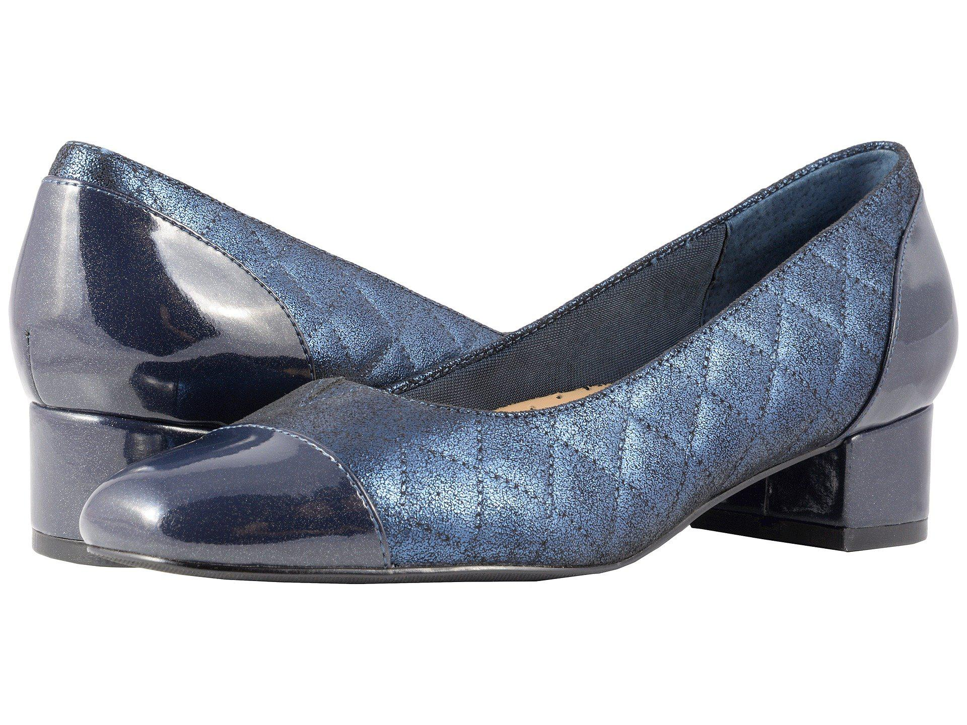 Trotters Danelle Quilted Leather Block Heel Pumps sAryXwE9dp