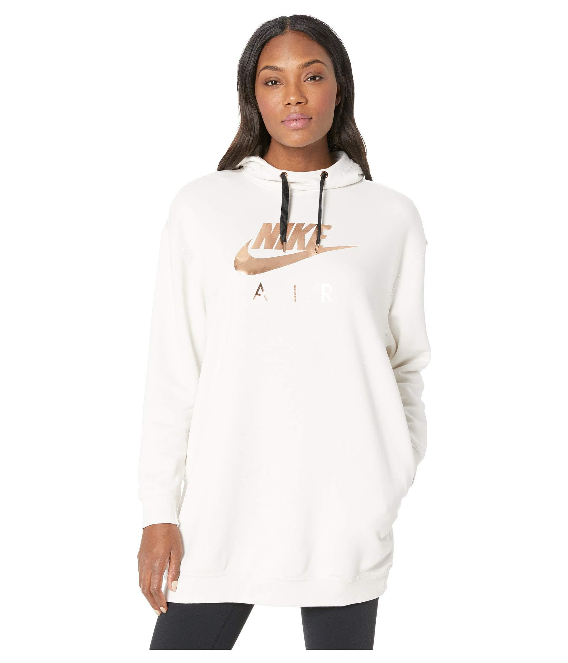 29052a8423705 Lyst - Nike Sportswear Air Hoodie Oversize in White - Save 5%