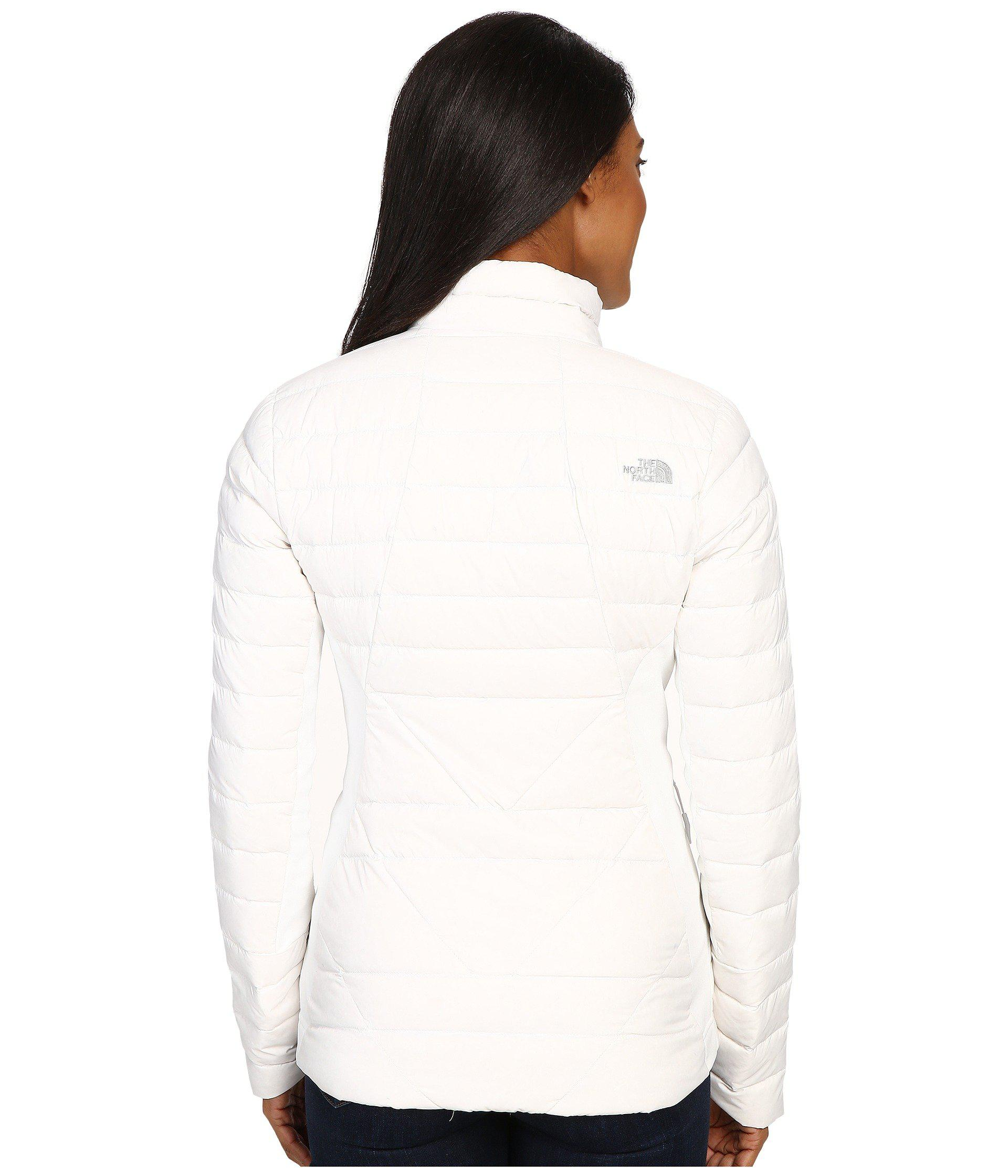 08f5d35febcd The North Face - White Lucia Hybrid Down Jacket - Lyst. View fullscreen