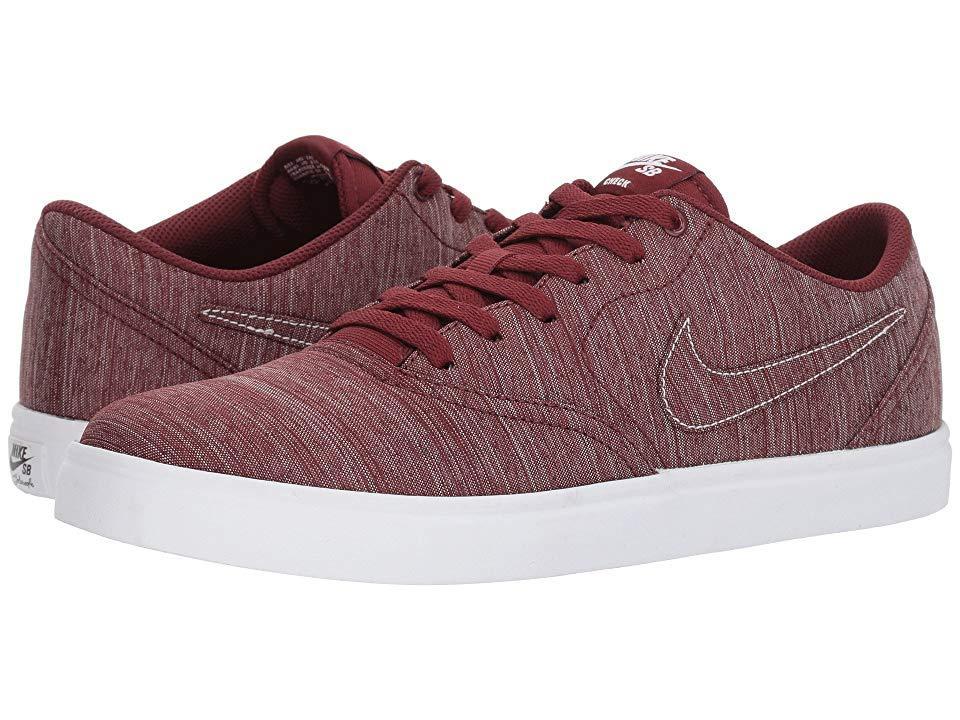 b1366be481 Nike. Men's Check Solar Canvas Premium (red Crush/red Crush/white/black) Skate  Shoes