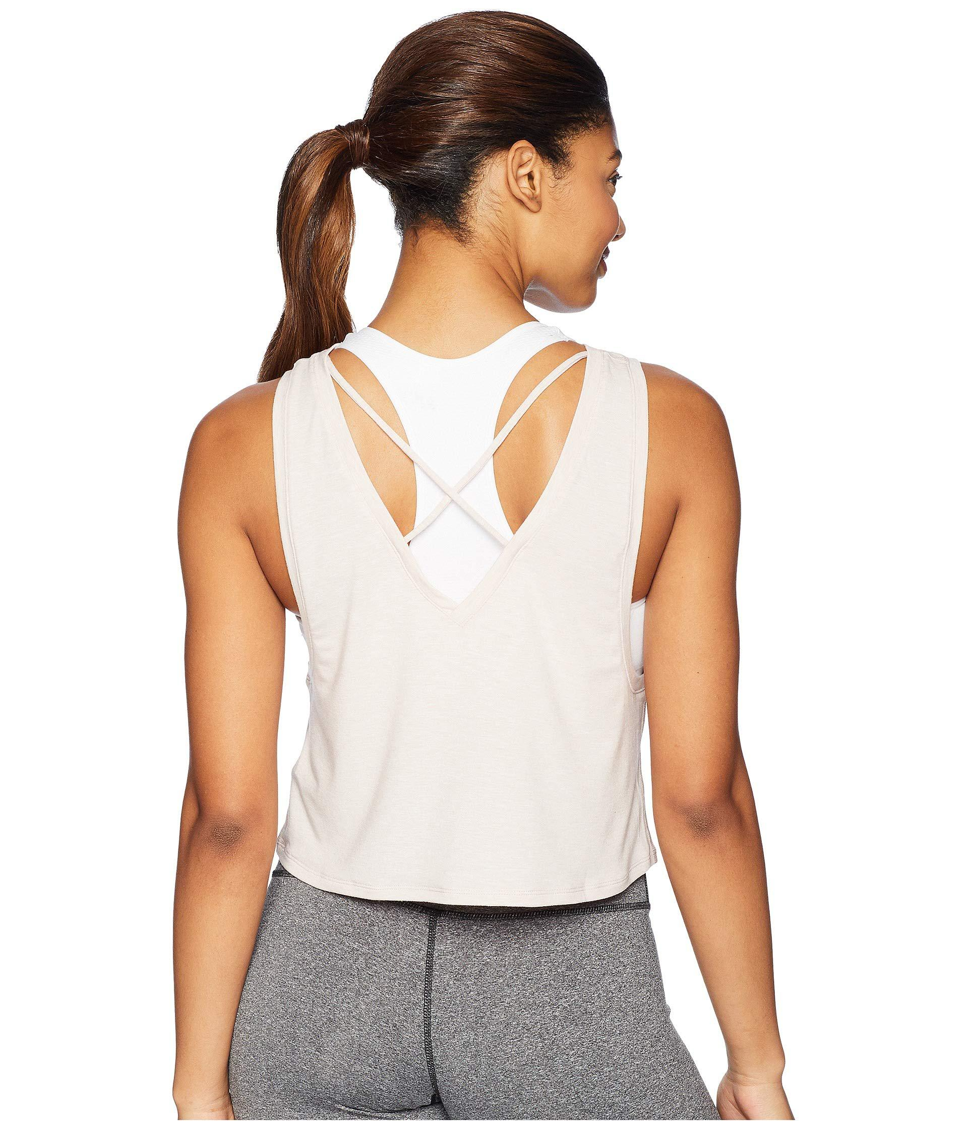 3492fc3b6ab New Balance Transform Two-way Crop Tank Top in White - Lyst