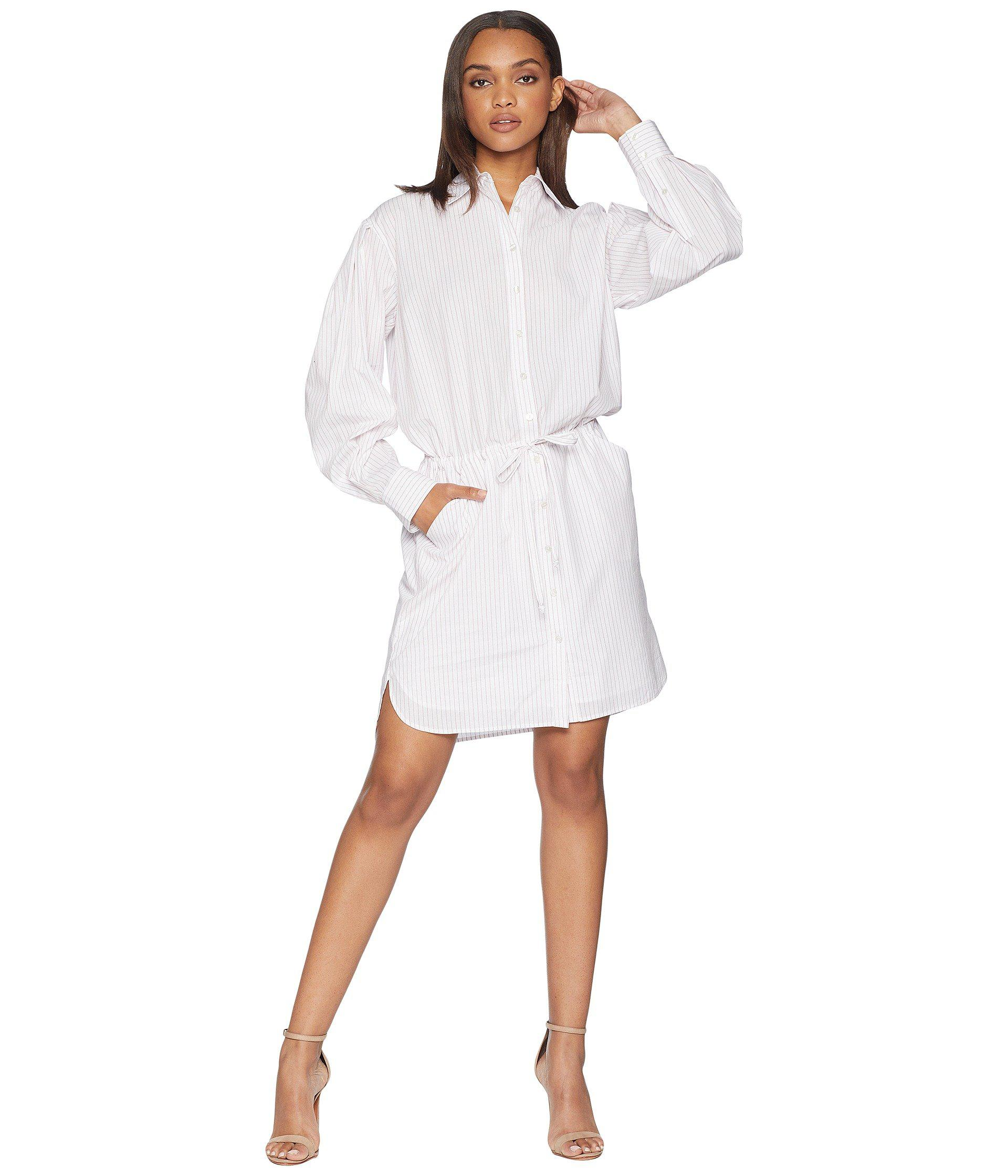 Lyst - Juicy Couture Striped Cotton Shirt Dress in White 83e166176