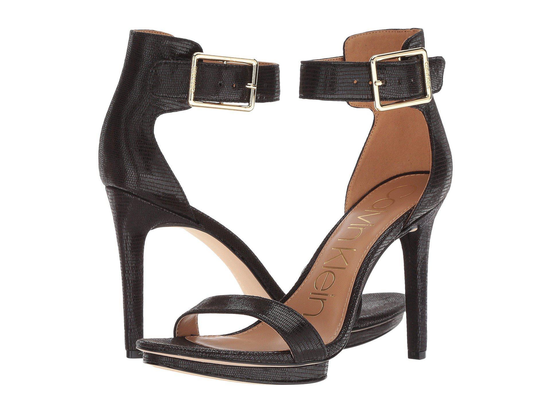 7da0a4f15d86 Lyst - Calvin Klein Vivian Platform Sandal in Black