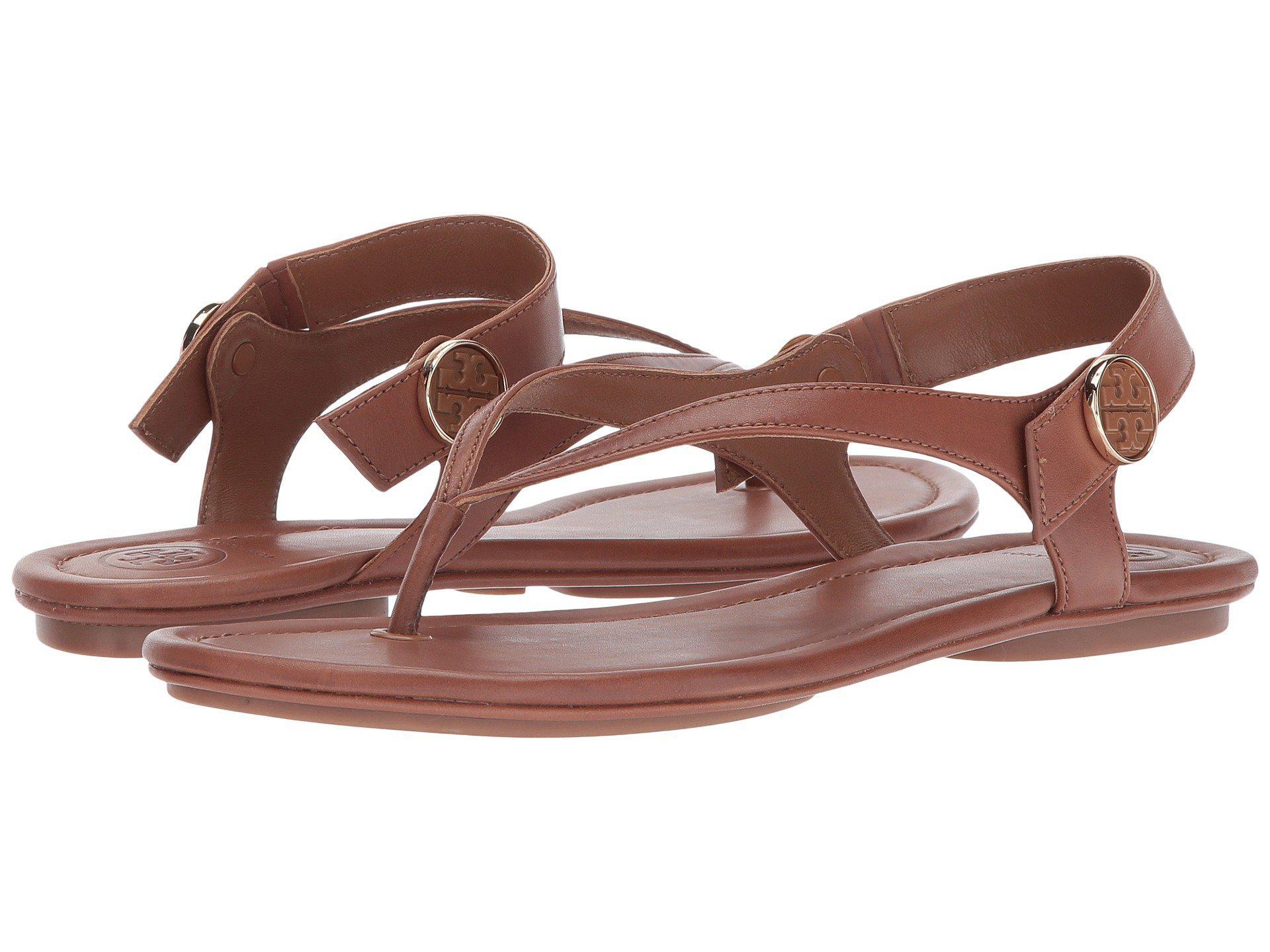 1281e9f159ab Lyst - Tory Burch Minnie Travel Sandal in Brown