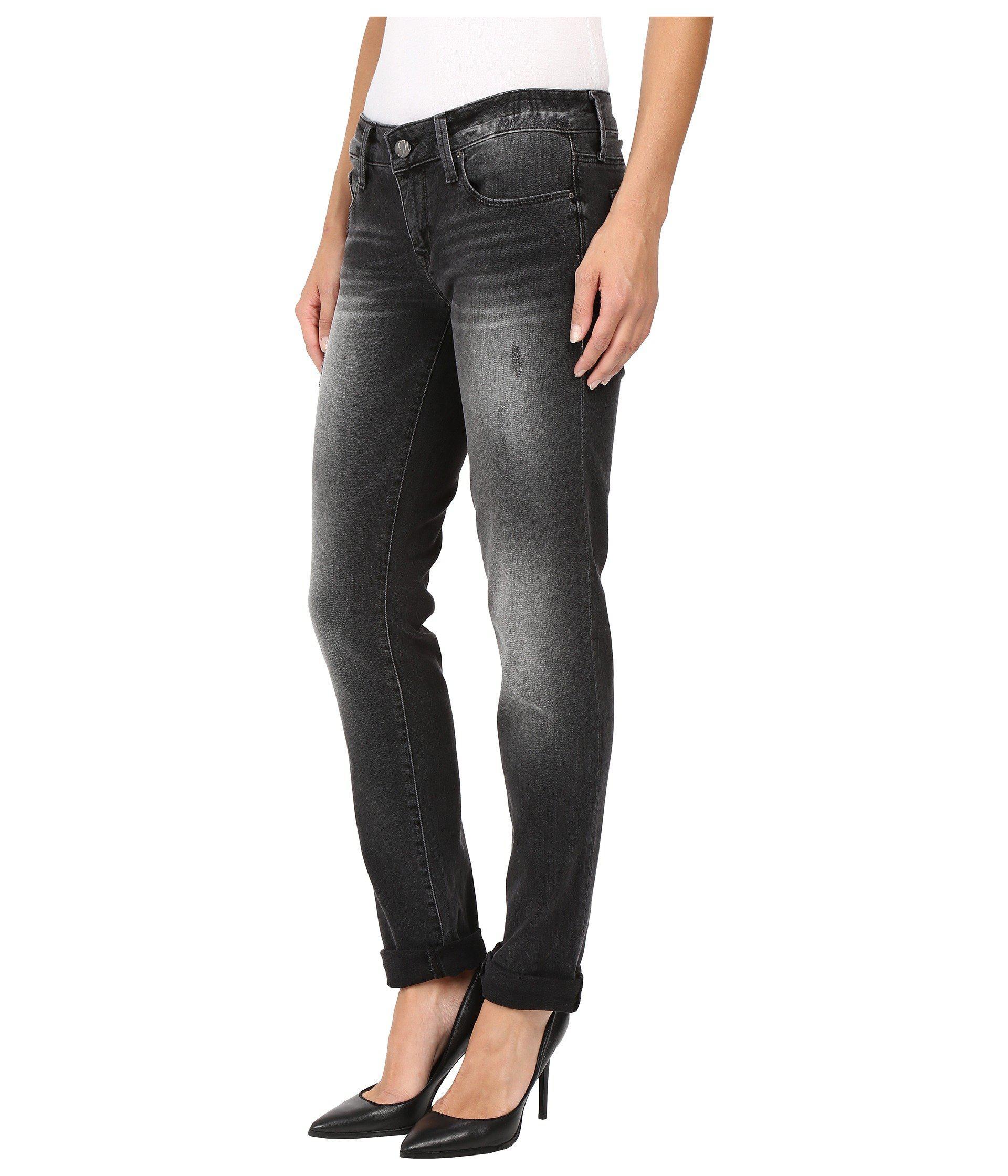 ef180d4621b Lyst - Mavi Jeans Emma Slim Boyfriend In Smoke Vintage - Save  71.08433734939759%