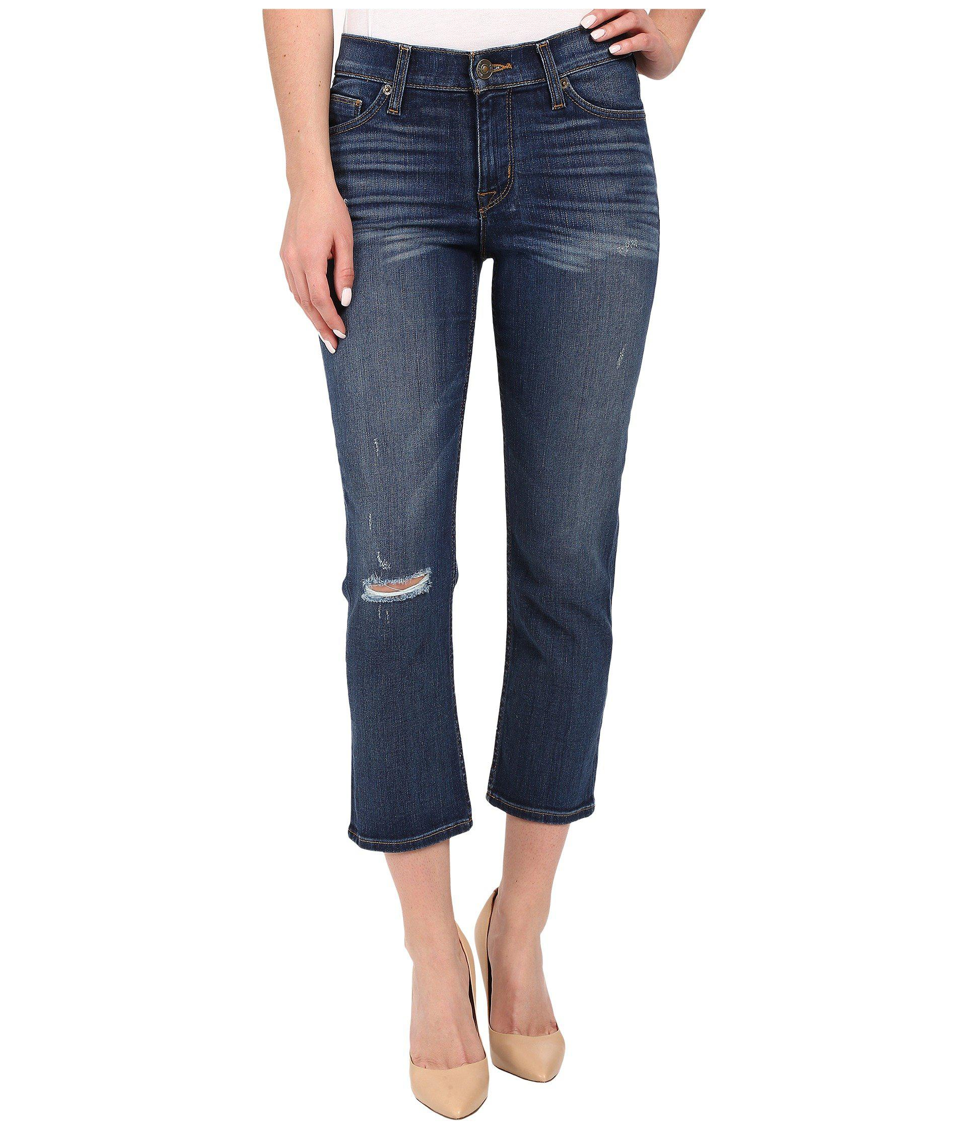 a4f5bc237d5 Hudson Jeans Fallon Crop In Offshore in Blue - Lyst