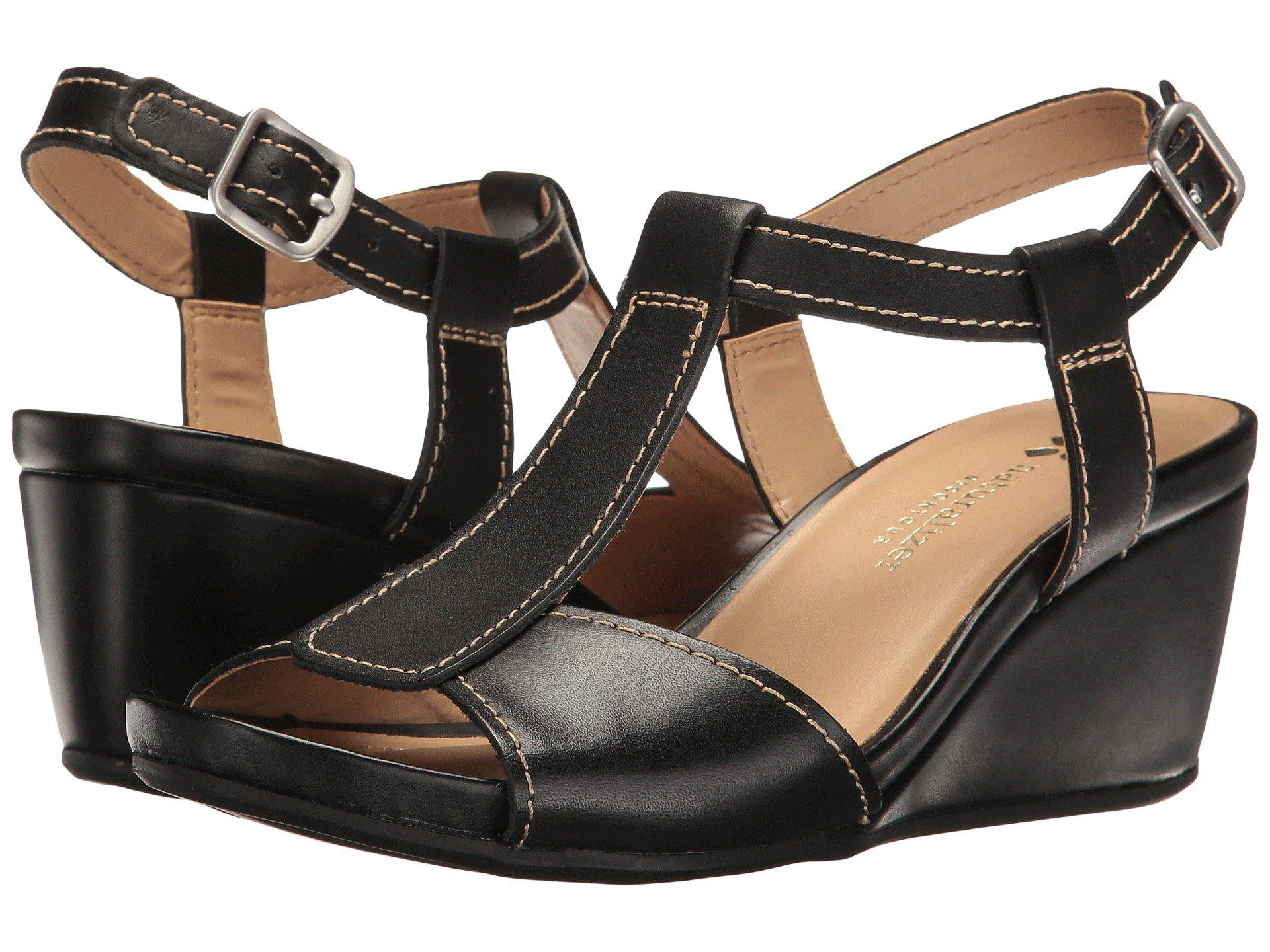 acee3104d454 Lyst - Naturalizer Camilla Wedge Sandal in Black - Save 55%