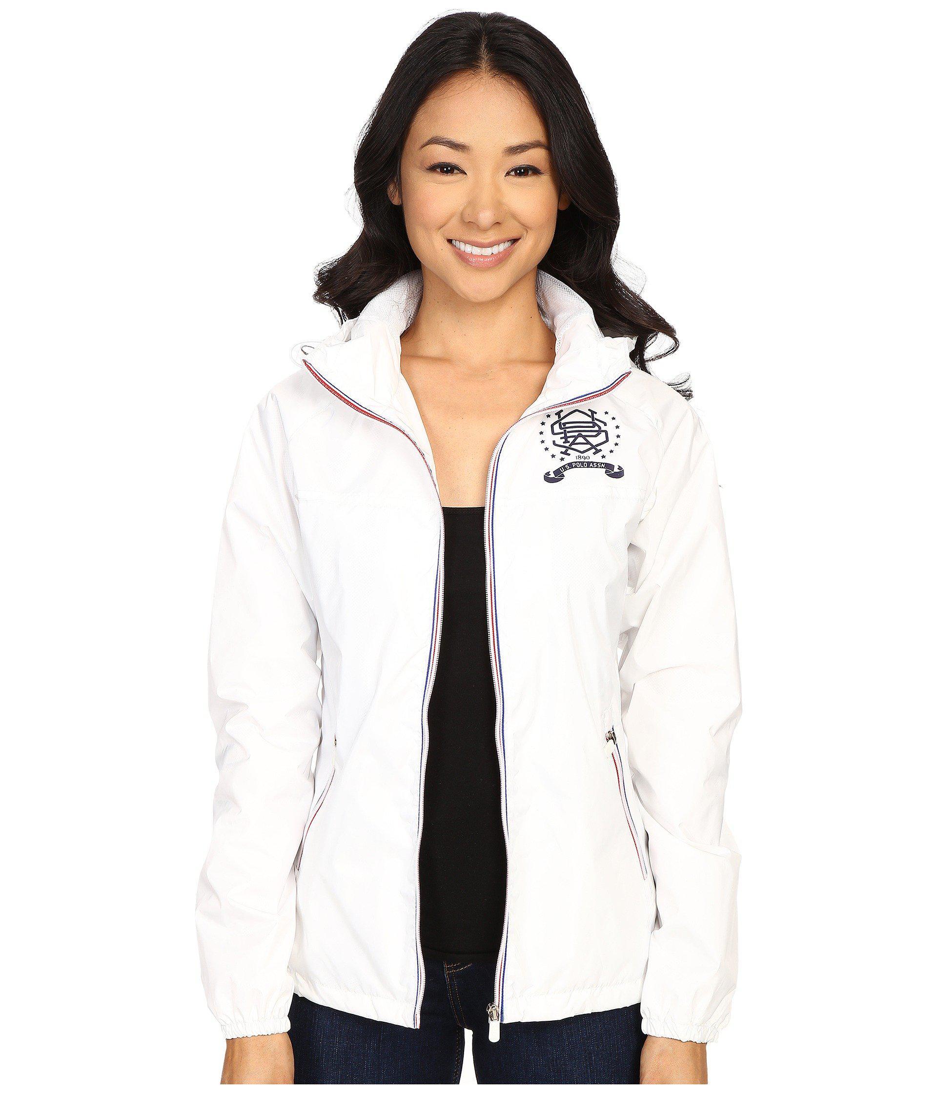 U.S Polo Assn Womens Baseball Windbreaker Jacket Windbreaker