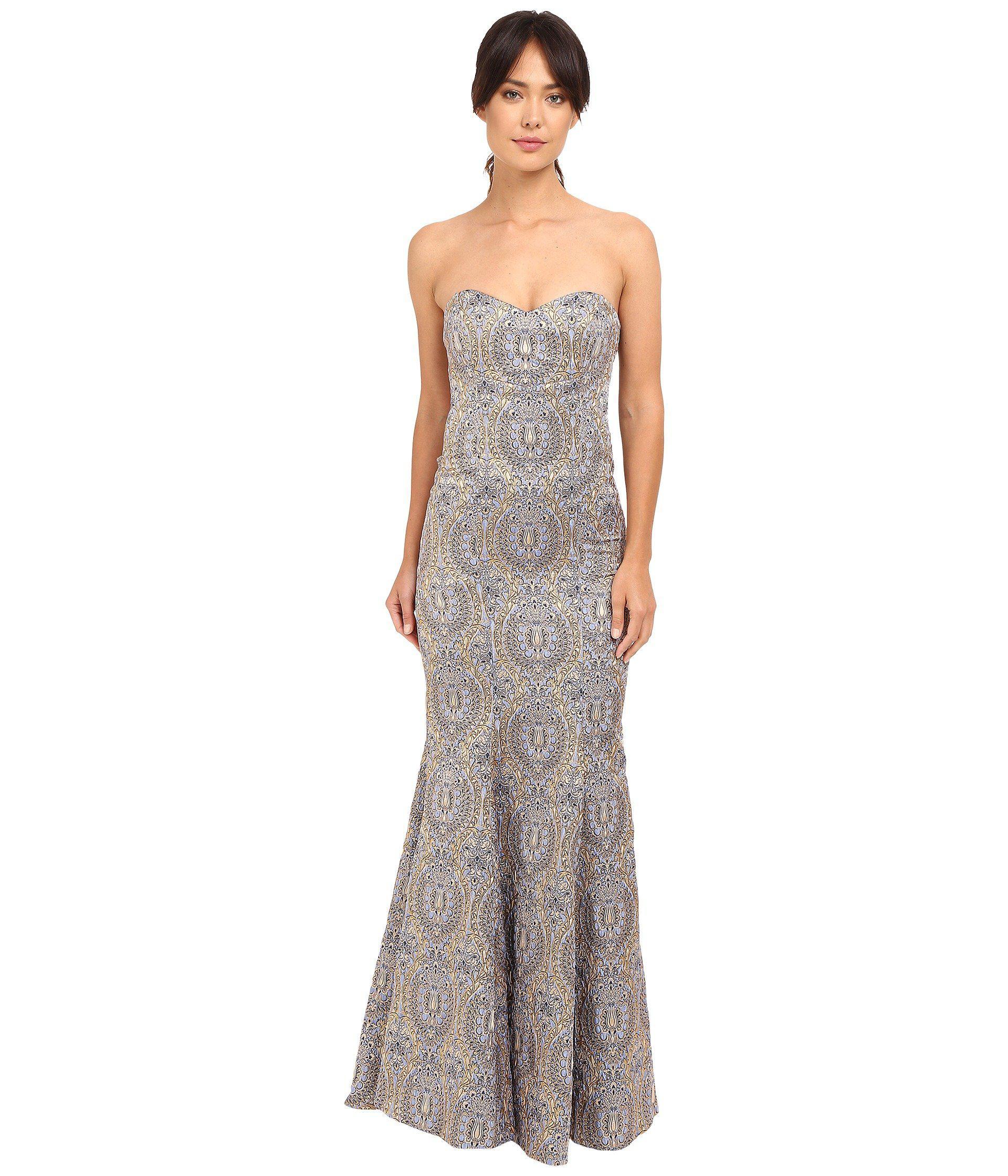 Lyst - Nicole miller Dakota Embroidered Gown
