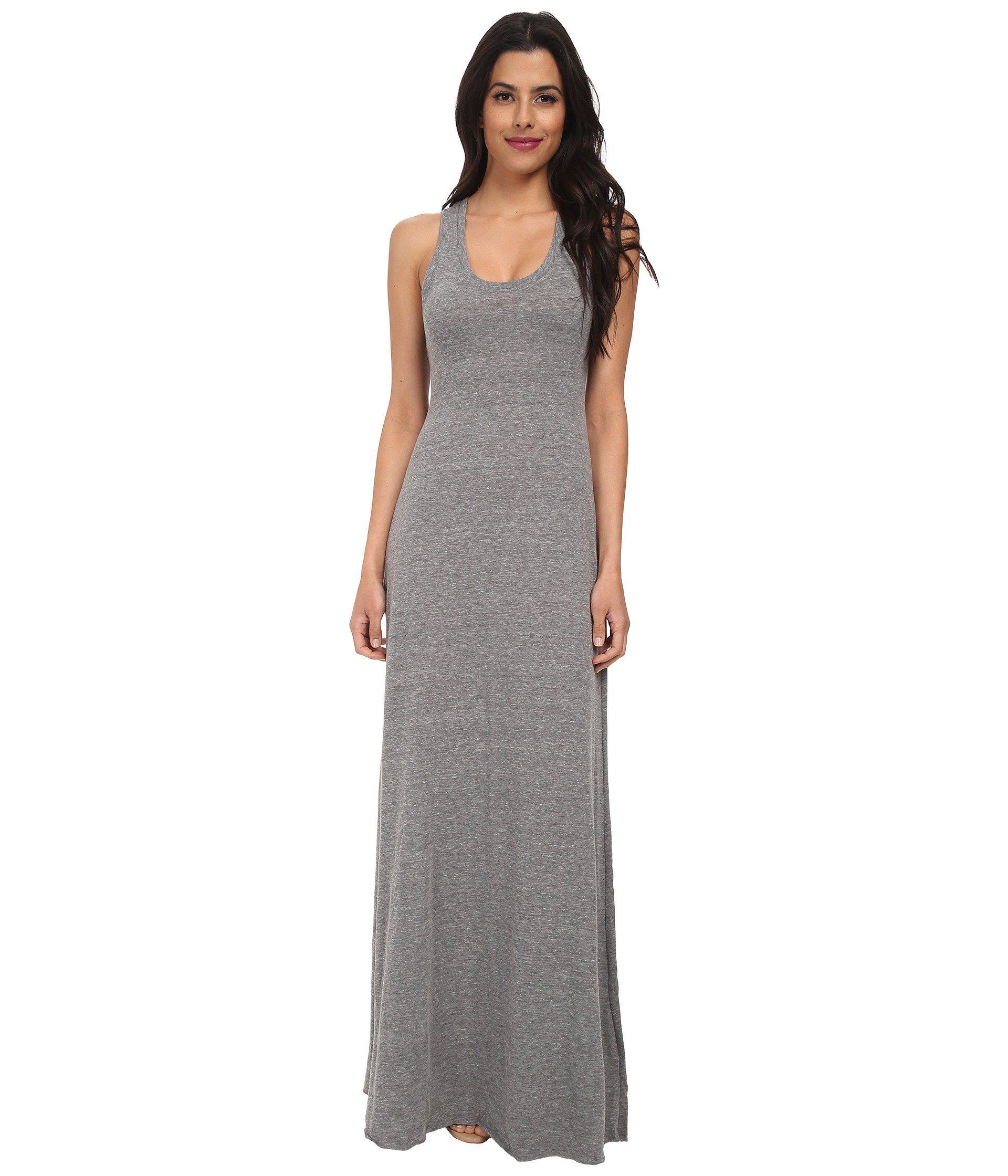 Lyst Alternative Apparel Racerback Maxi Dress In Gray Save
