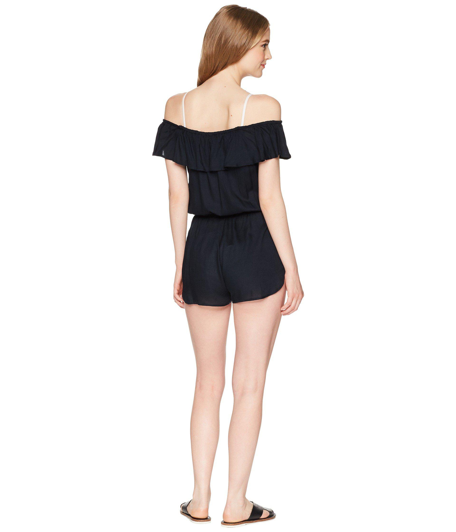 4cb513231869 Lyst - Roxy Western Holiday Romper Cover-up in Black - Save 21%