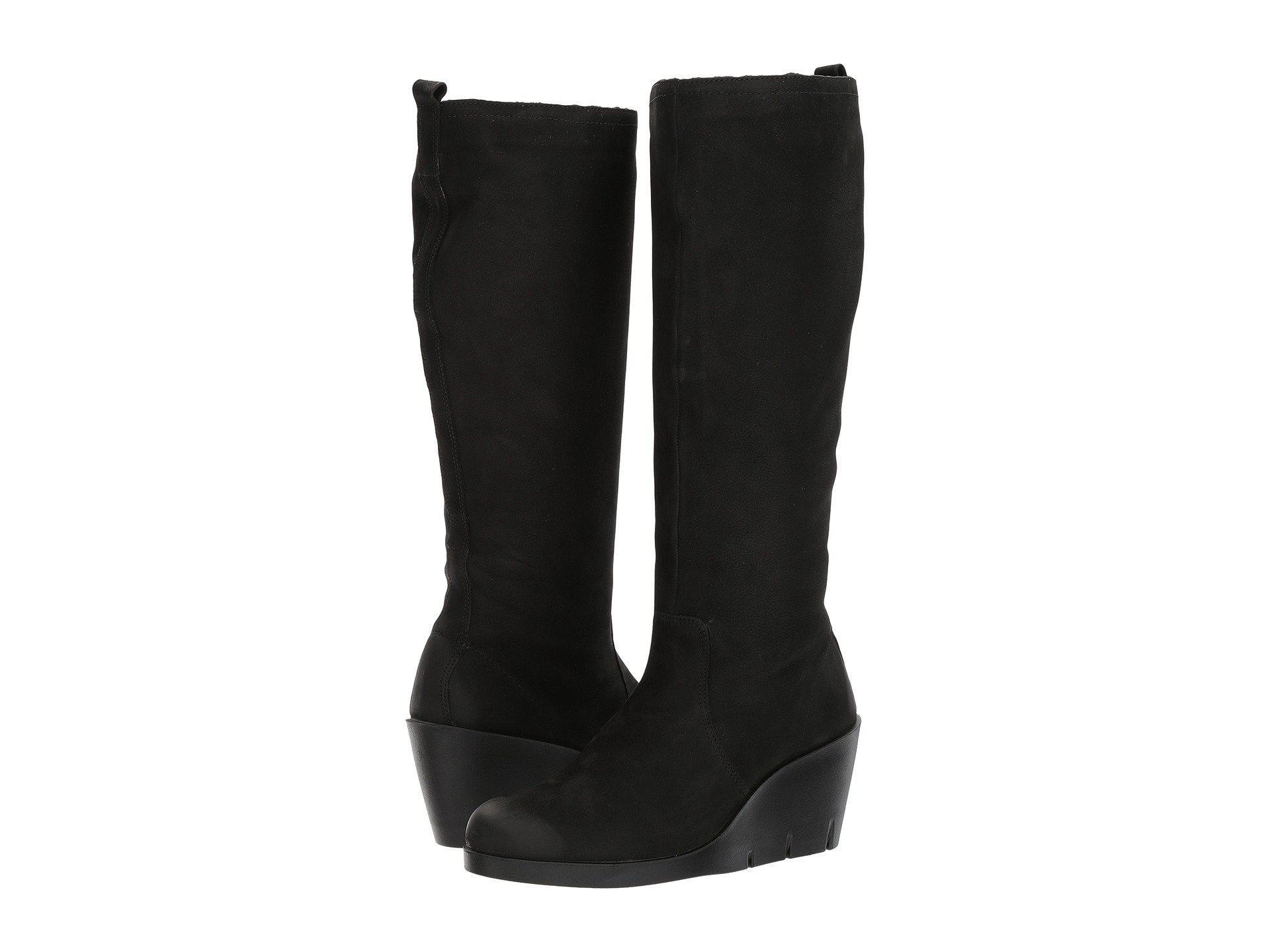 e0ac42c6dbac Lyst - Ecco Bella Wedge Tall Boot in Black