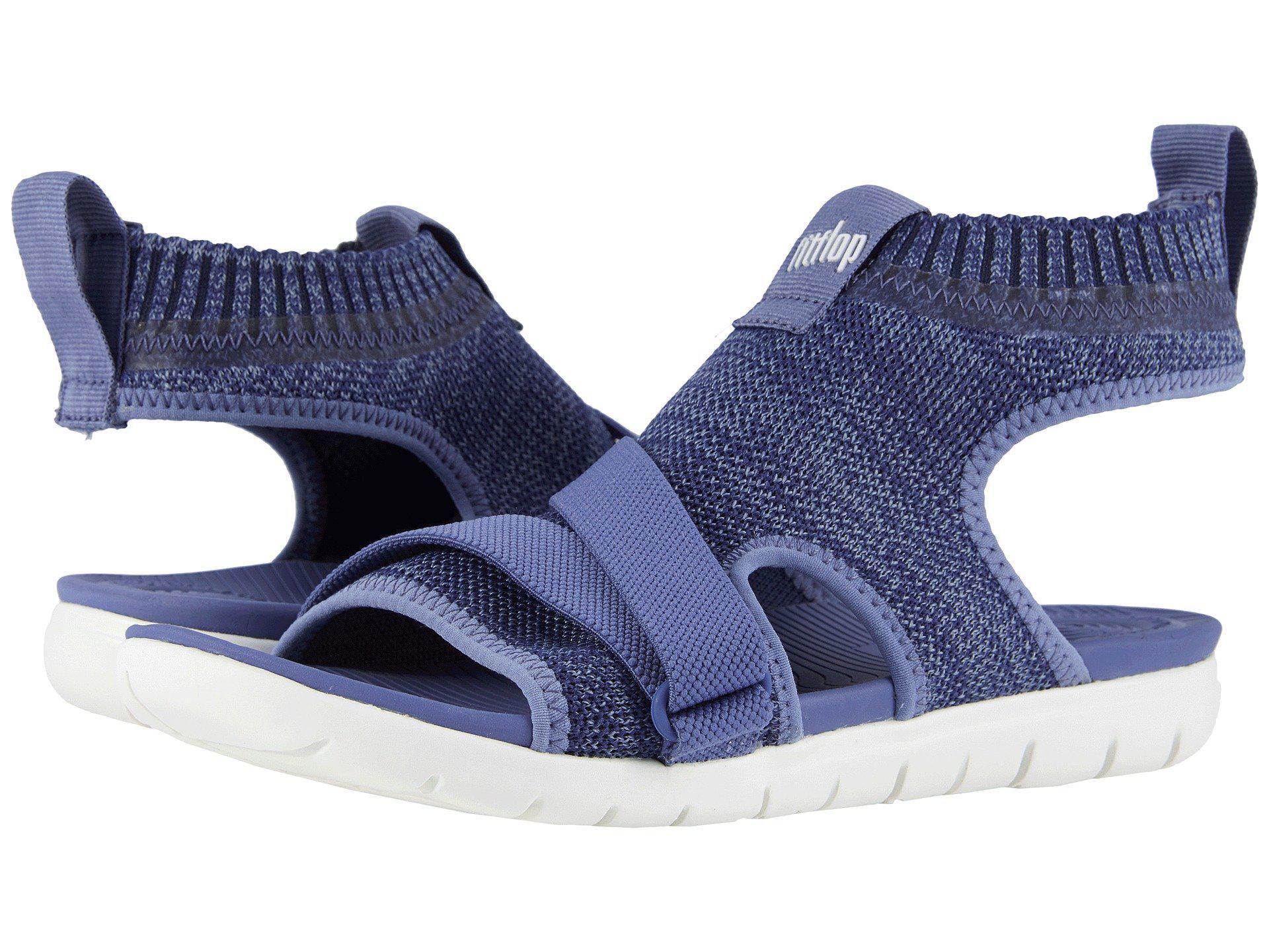 98af35daed8909 Lyst - Fitflop Uberknit Back Strap Sandals in Blue - Save 32%