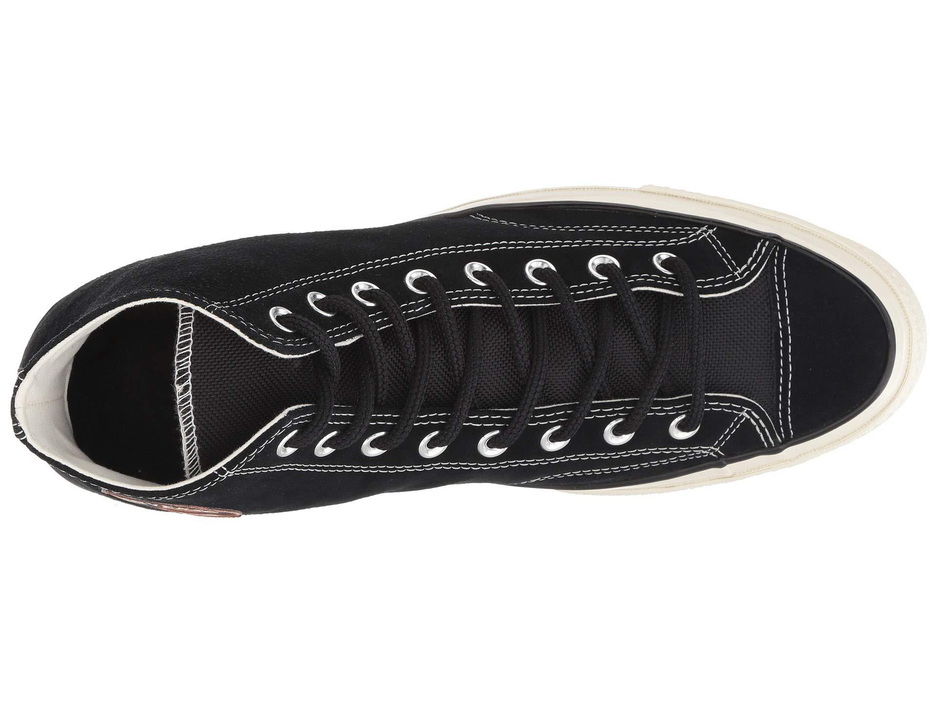 aed185198d7b74 Converse - Black Chuck Taylor 70 Hi Base Camp Suede Sneakers - Lyst. View  fullscreen