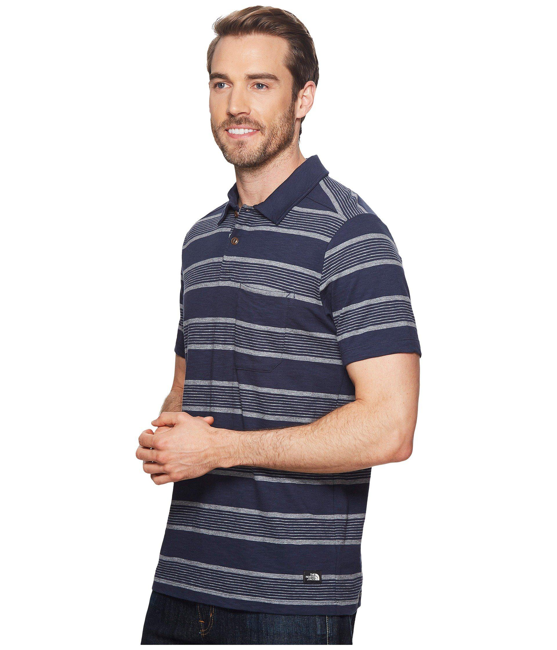 e5ef09b1 Lyst - The North Face Short Sleeve Cool Canyon Polo in Blue for Men - Save  29%