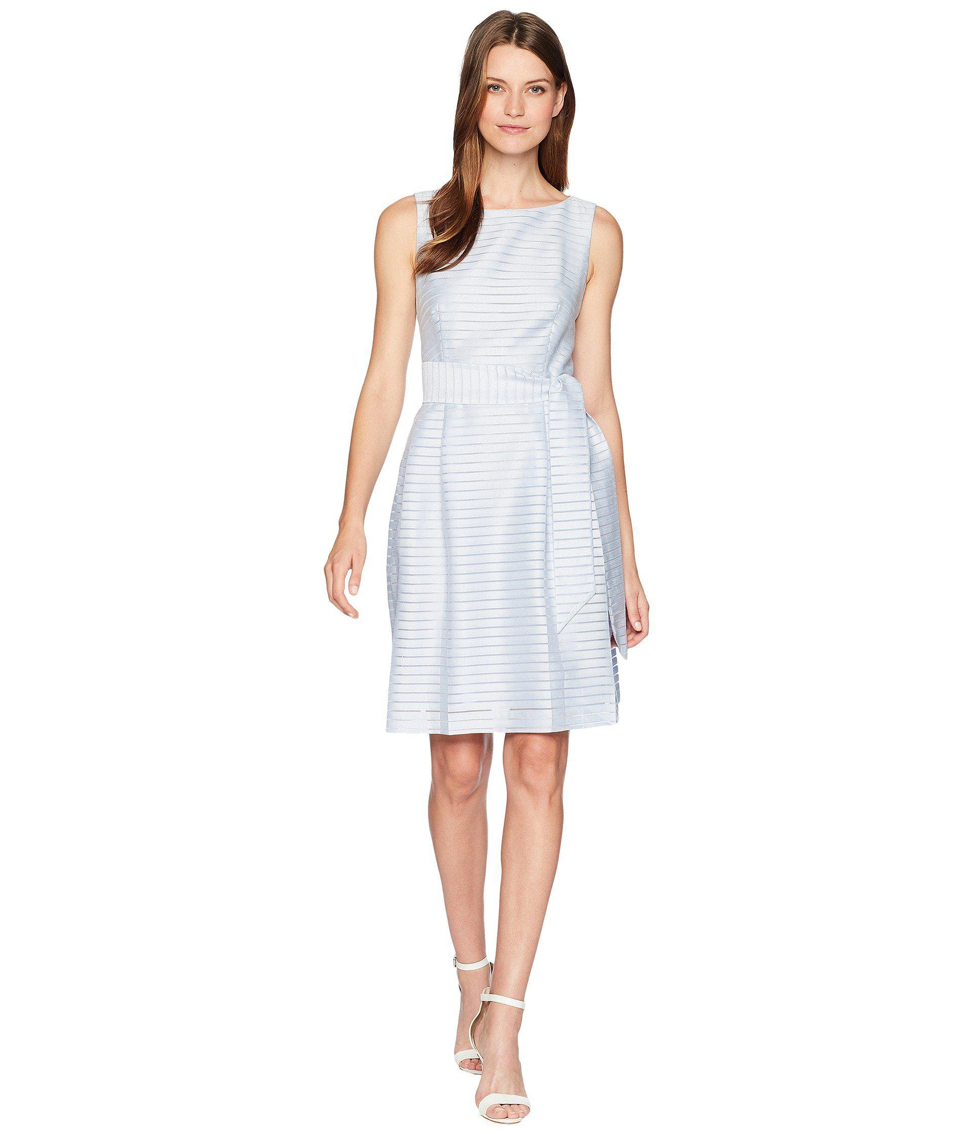b3c840dd5f679d Lyst - Anne Klein Fit   Flare Dress With Sash in Blue - Save 10%