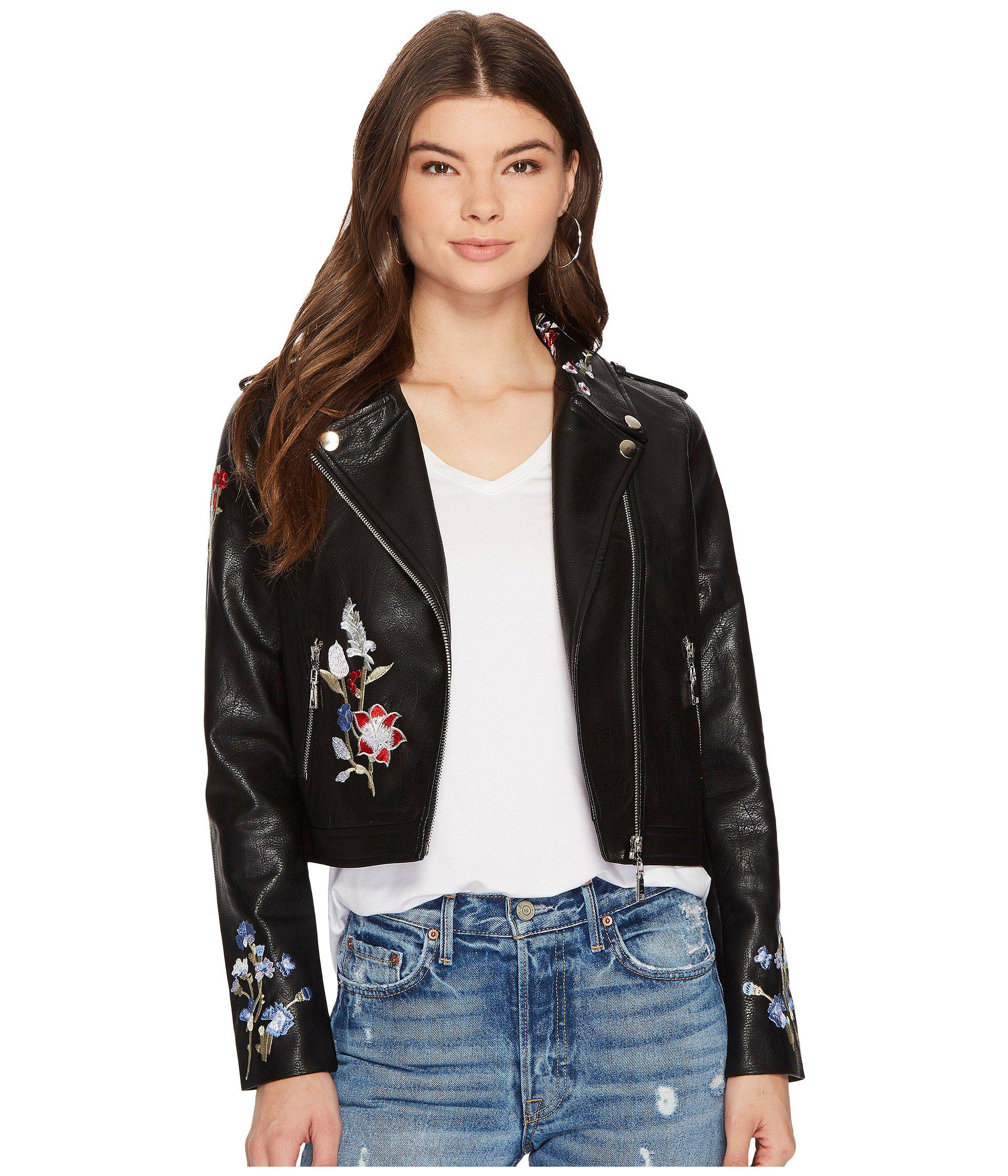 4b7ea5c3b55 Lyst - Bishop + Young Embroidered Moto Jacket in Black - Save 12%