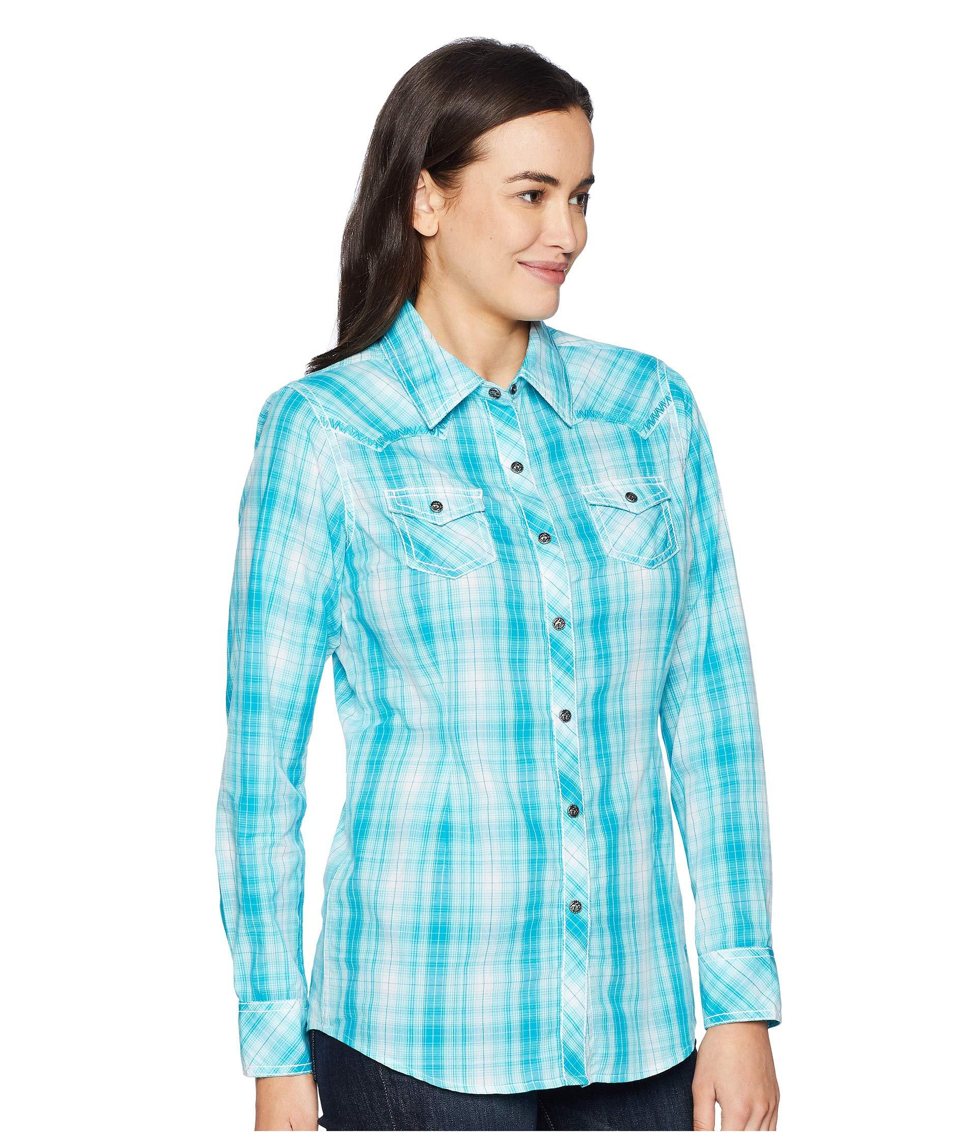 8a165346 Ariat Real Stunning Snap Shirt in Blue - Lyst