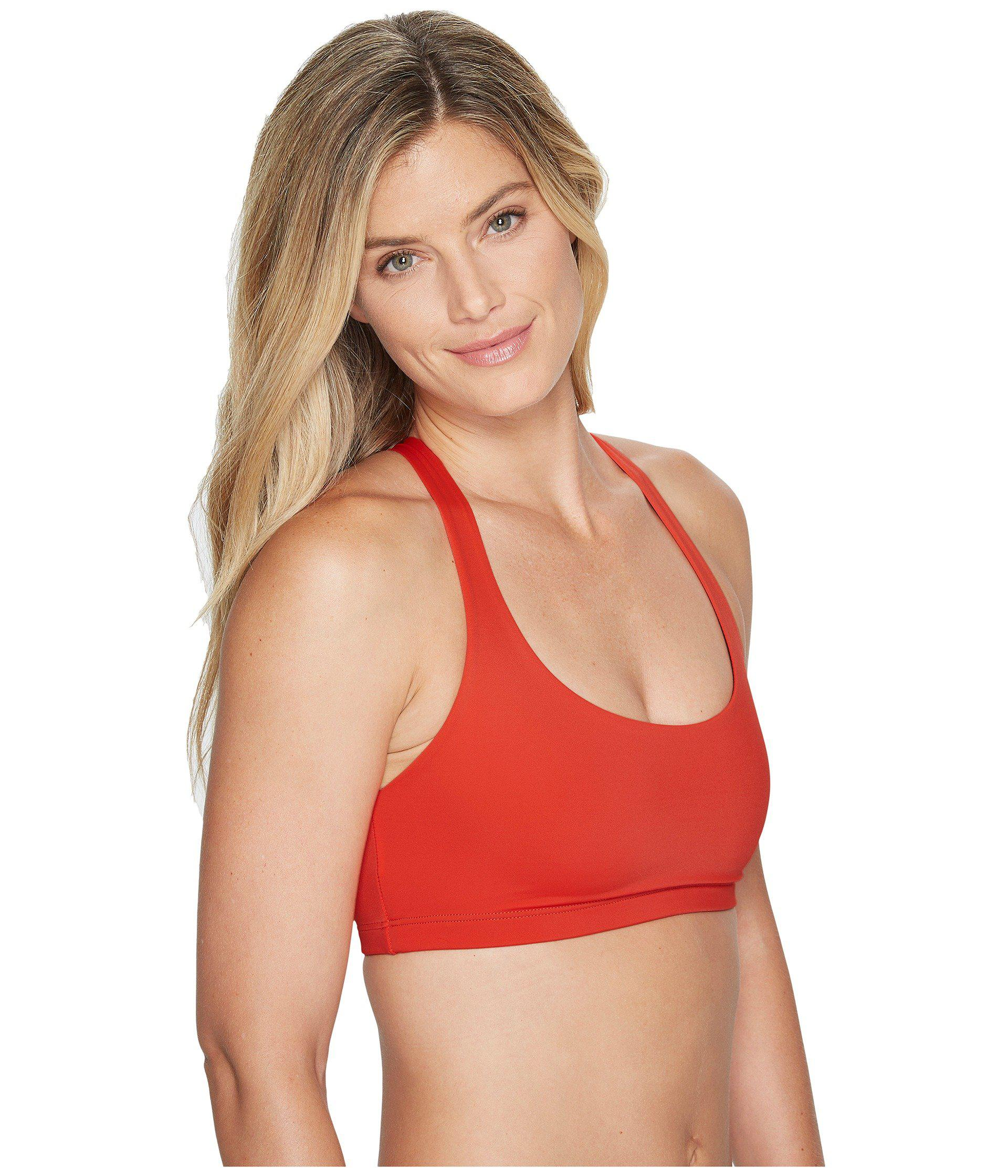 0429328607aa6 Lyst - Onzie Chic Bra Top in Red