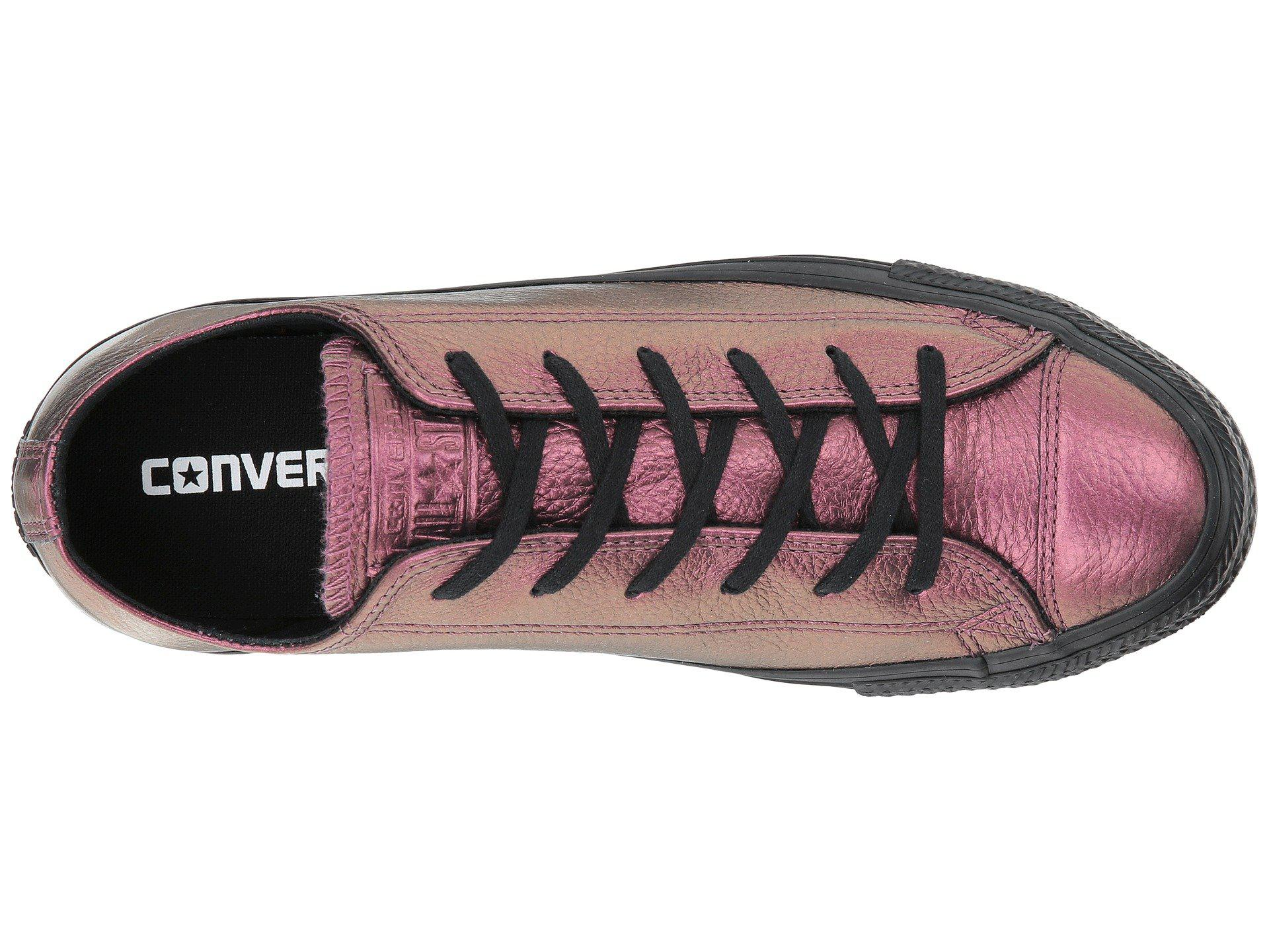 4c0e970170c4 Lyst - Converse Chuck Taylor® All Star® Iridescent Leather Ox in Black