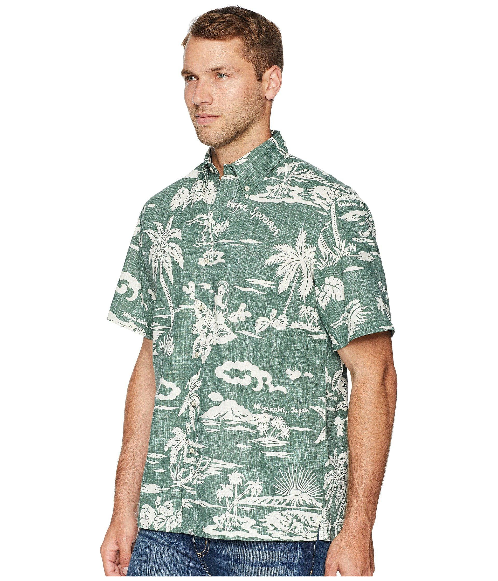 41f19b3e Lyst - Reyn Spooner My Private Isle Classic Fit Aloha Shirt in Green for Men  - Save 36%