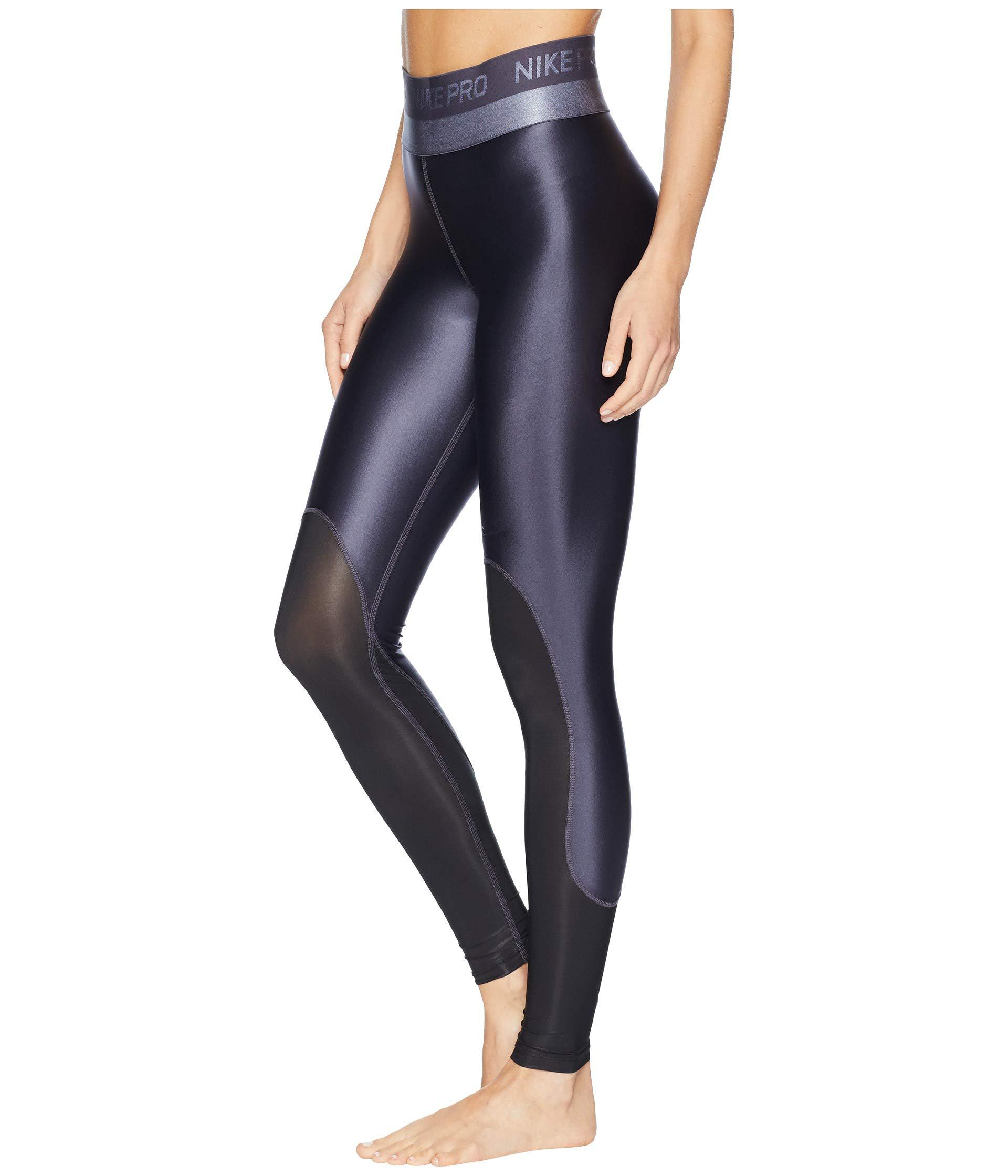 on sale 52967 3a453 Nike Pro Hypercool Glamour Tights in Black - Lyst