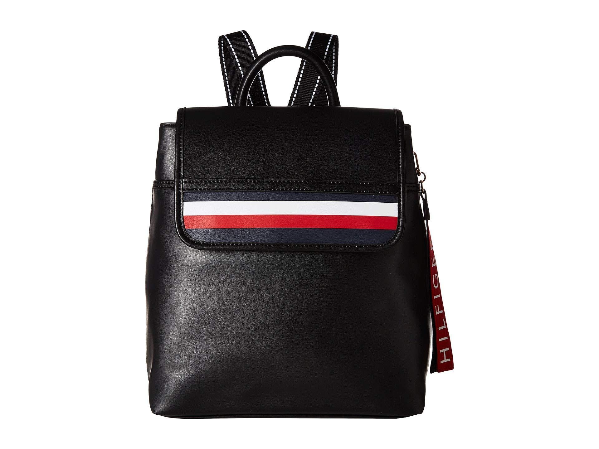0db166cd13 Lyst - Tommy Hilfiger Gianna Smooth Pvc Backpack in Black