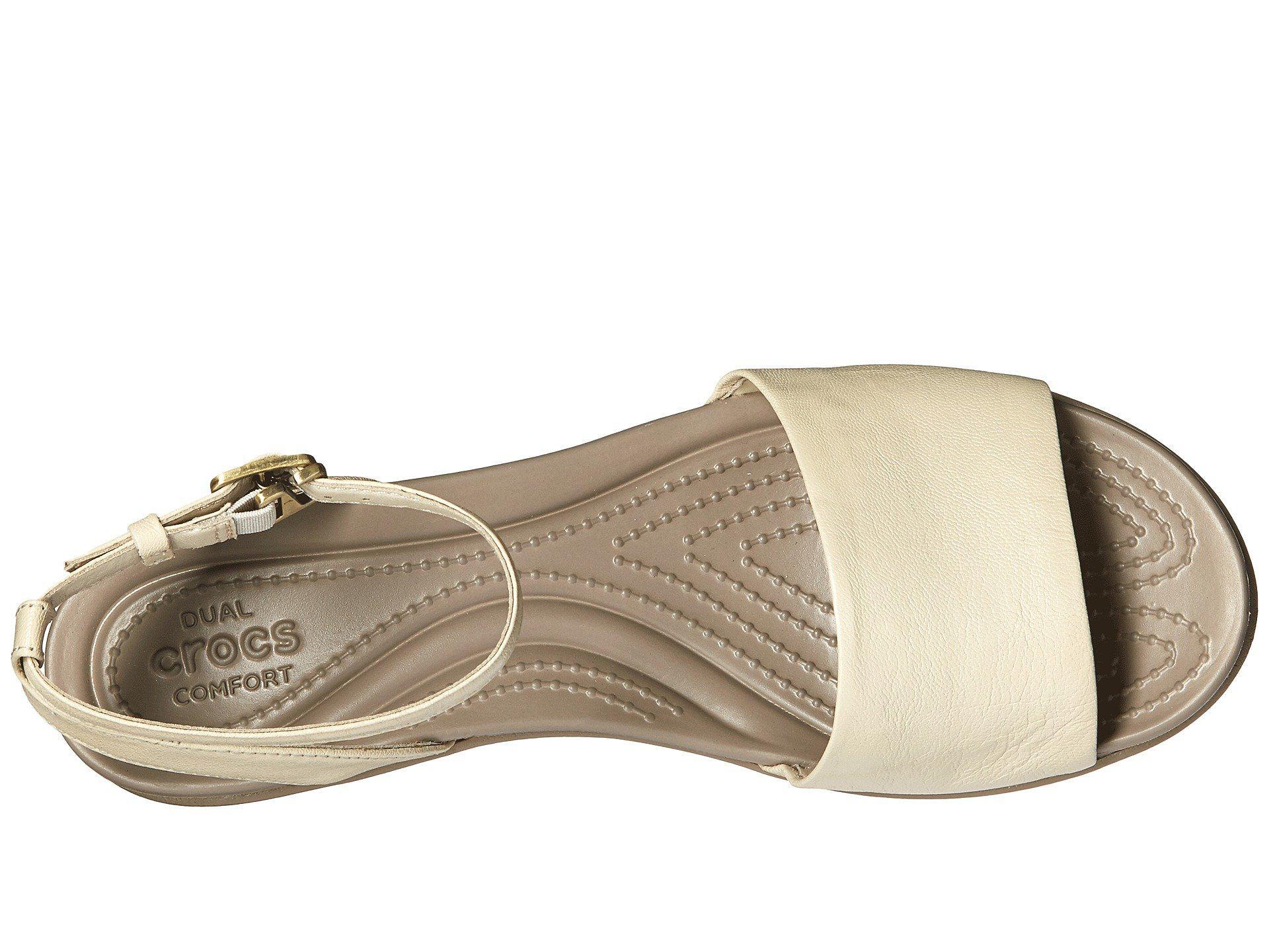 c37b09de7328 Crocs™ - Multicolor Leigh-ann Ankle Strap Leather - Lyst. View fullscreen